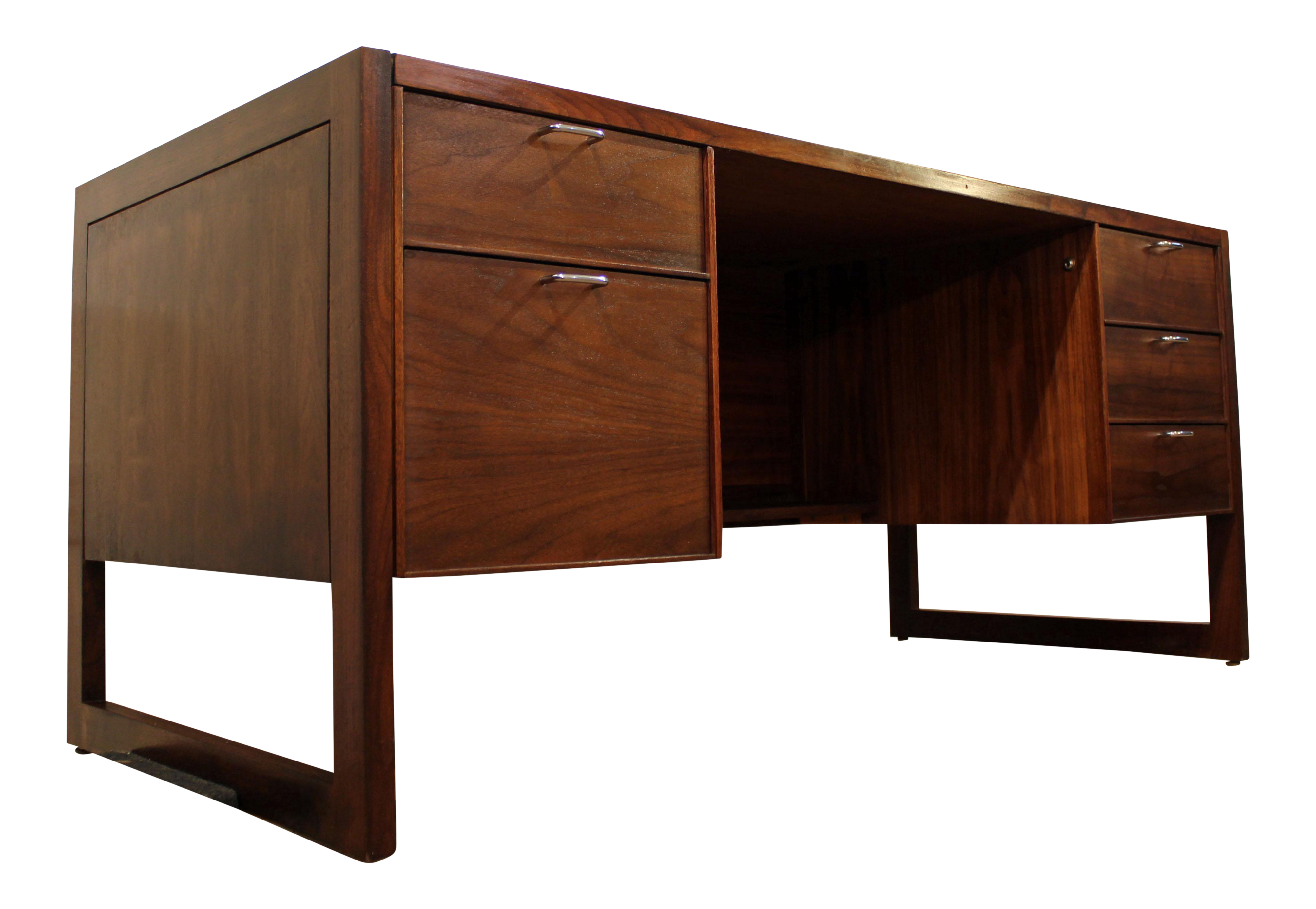 Mid Century Danish Modern Camilo Muebles Walnut Executive Desk Chairish