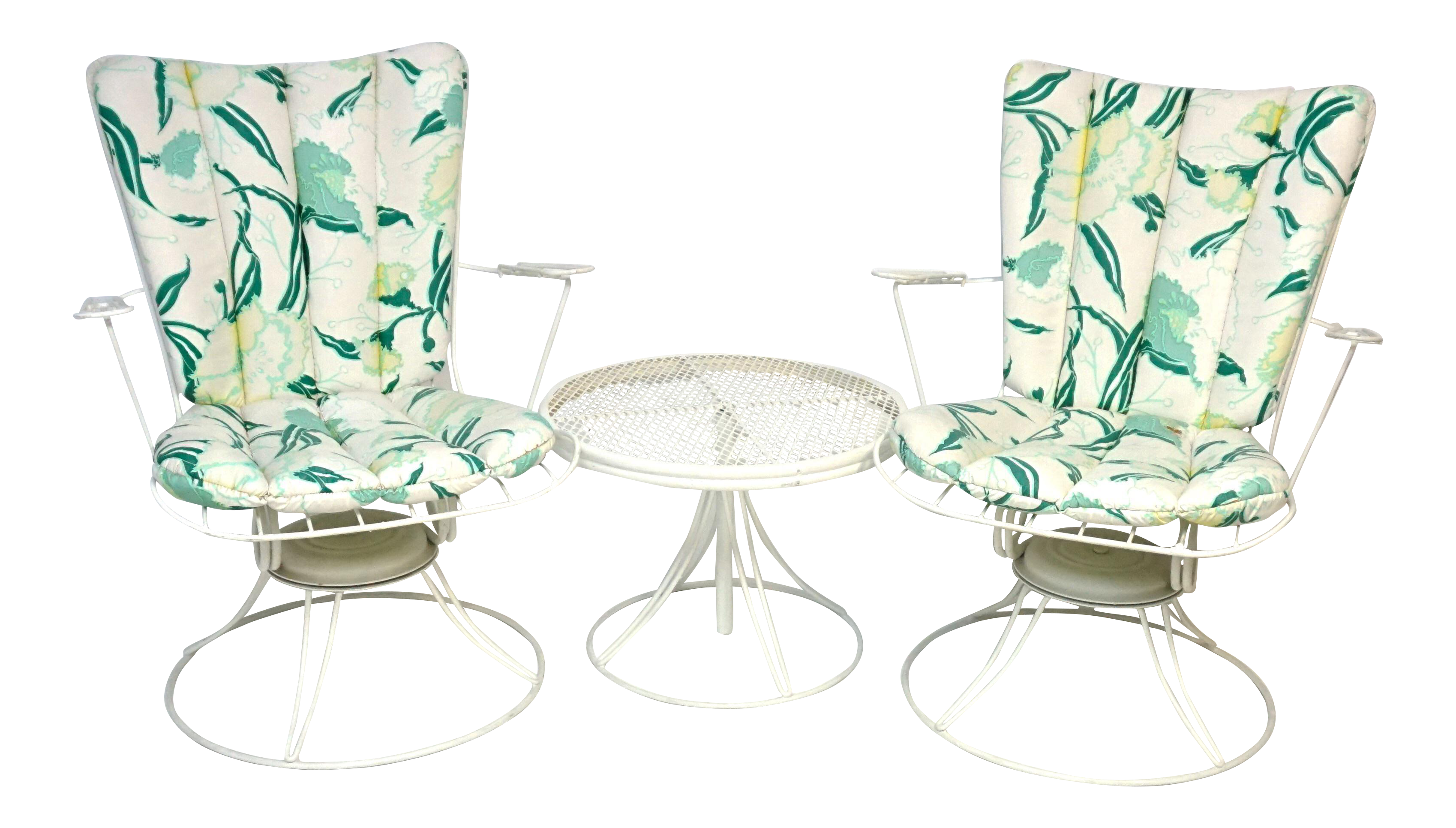 Homecrest Mid Century Patio Seating Furniture Set of 3