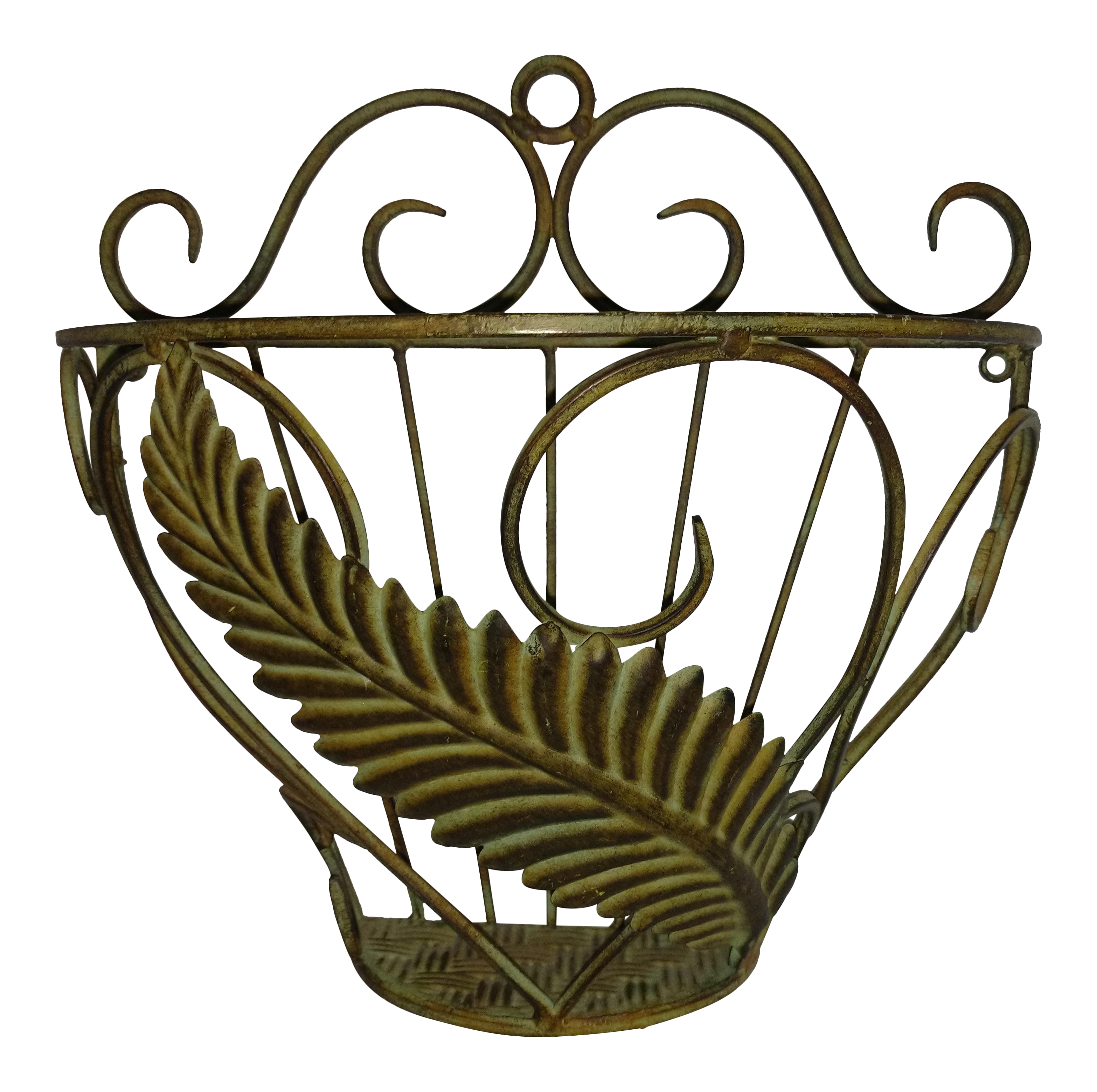 Wall hanging metal planter chairish for Kitchen cabinet trends 2018 combined with painted metal art wall hanging