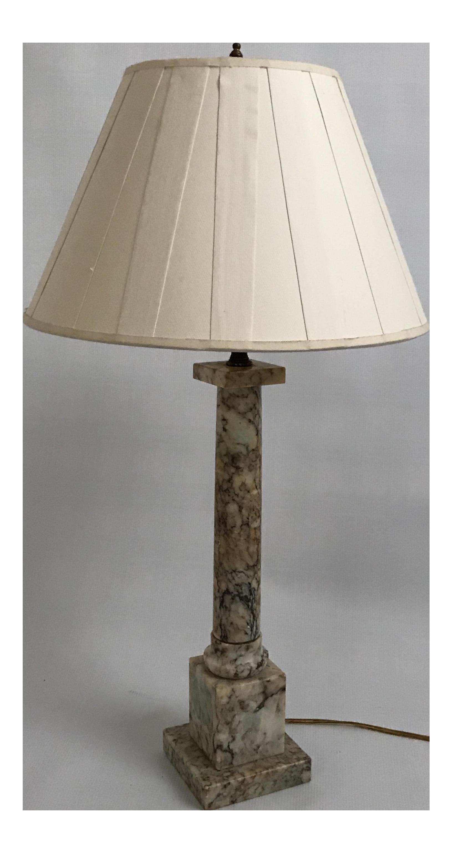 west pillar marble elm hero lamp copycatchic table