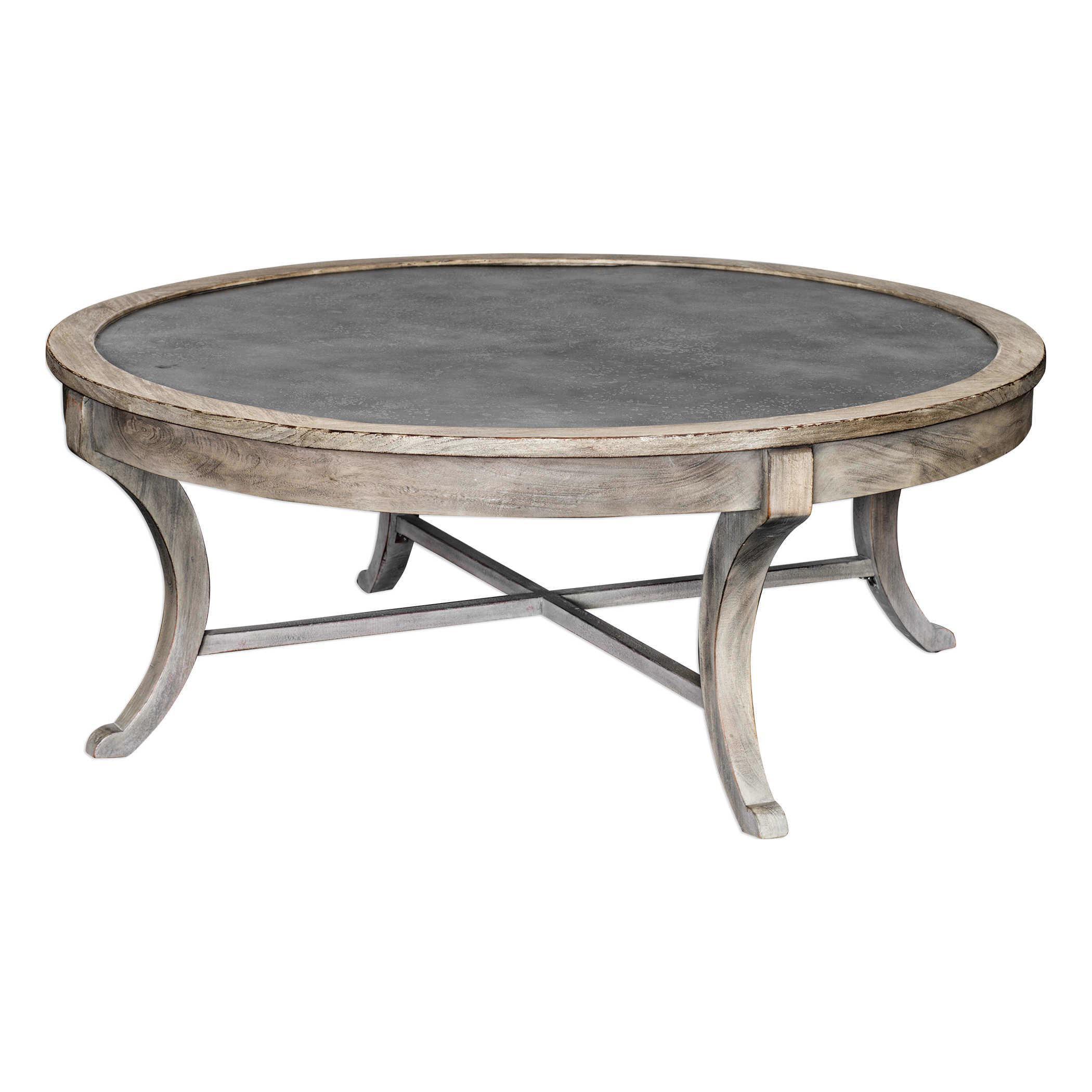 - Distressed Mahogany Round Coffee Table Chairish