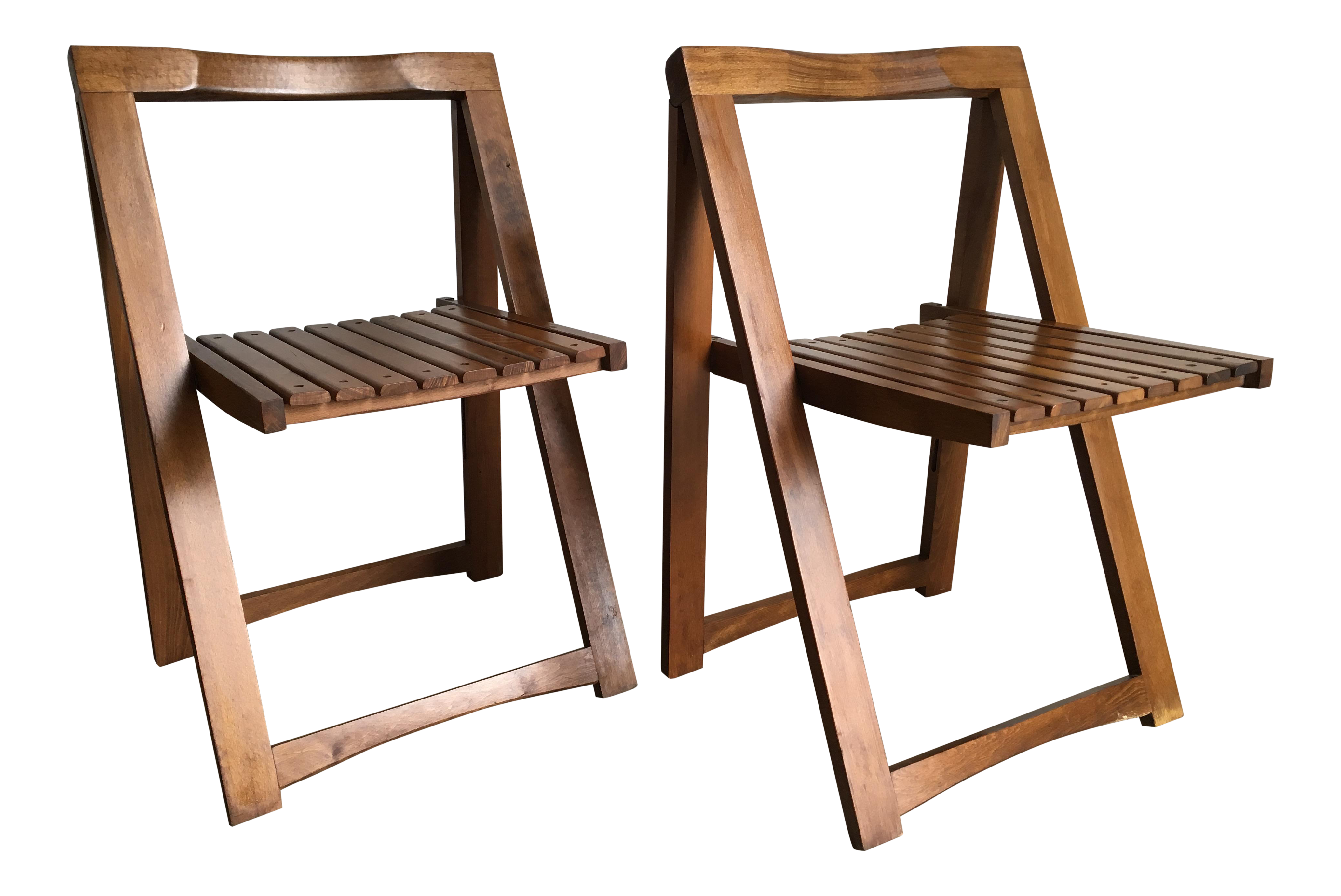 Marvelous Vintage Mid Century Modern Folding Chairs Set Of 2 Evergreenethics Interior Chair Design Evergreenethicsorg