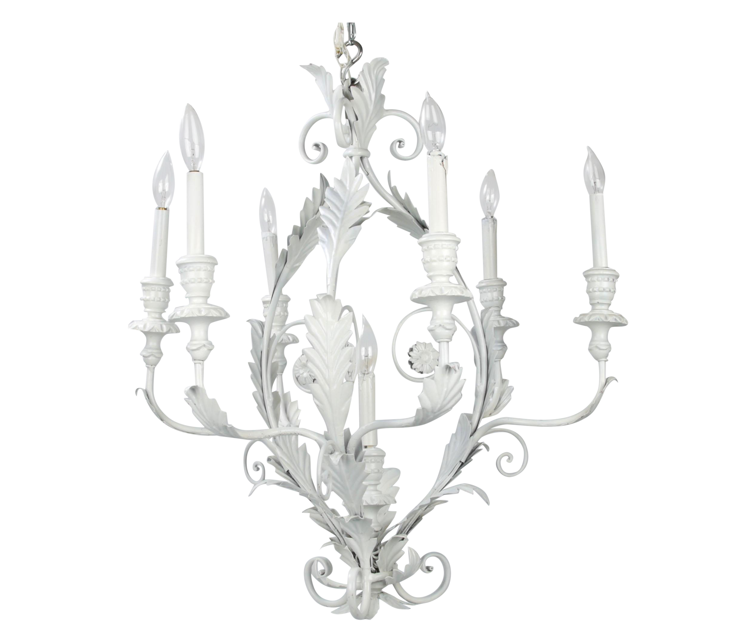 Incredible italian metal flower leaf chandelier decaso arubaitofo Images