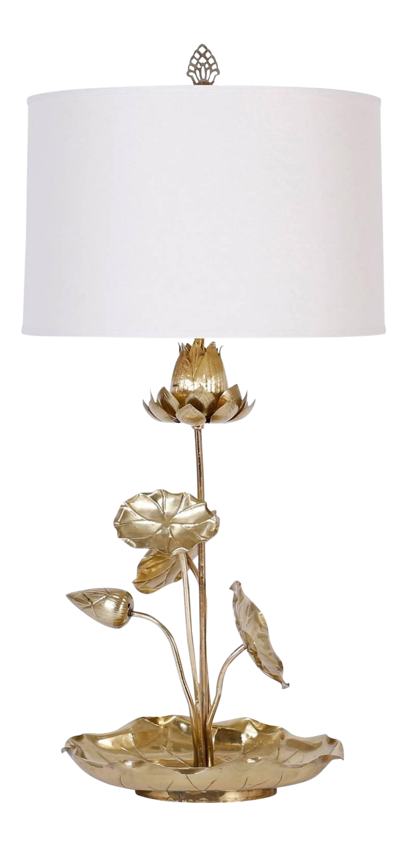 Crystal Lotus Flower Table Lamp