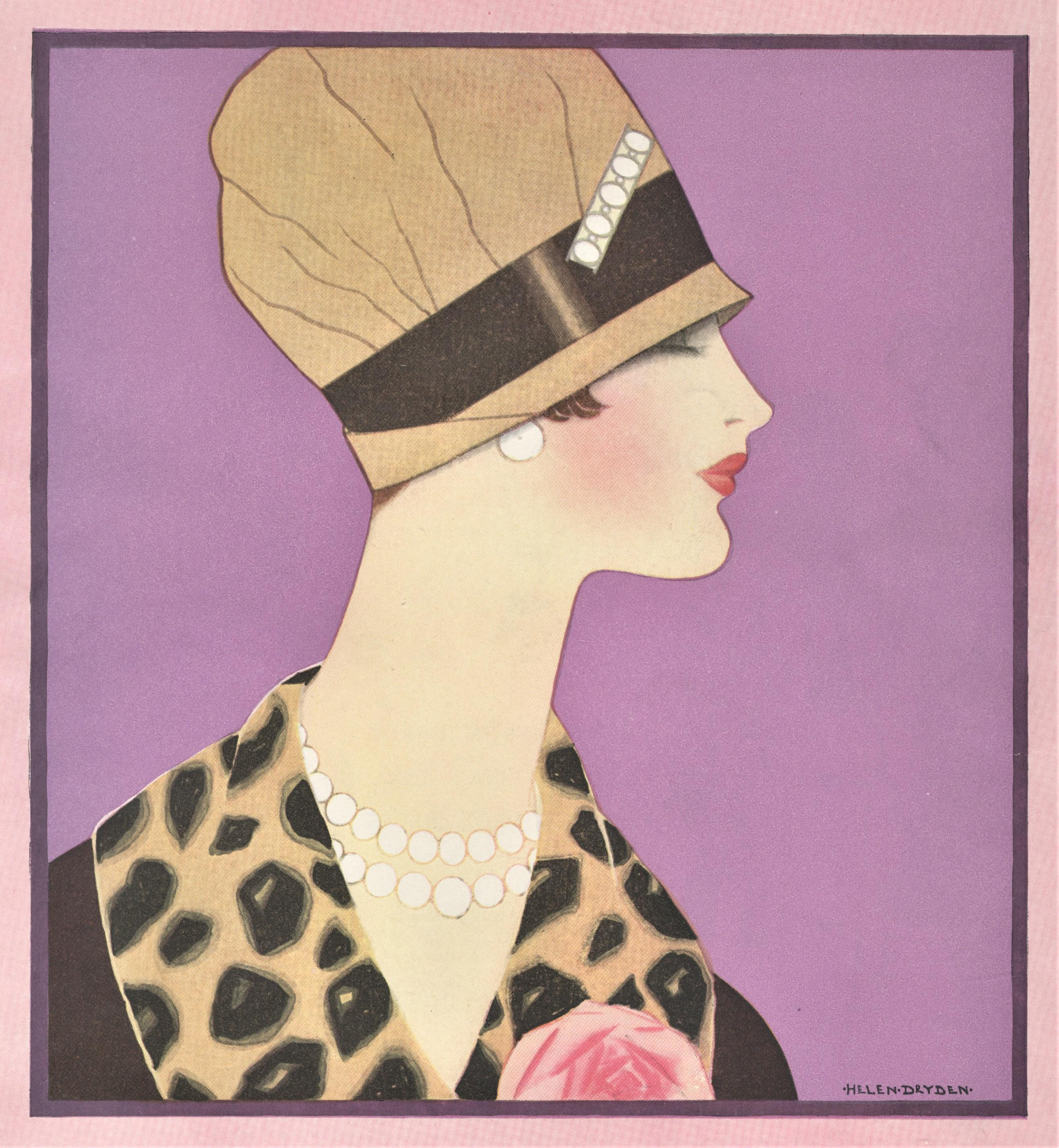 Matted 1920 S Art Deco Fashion Print By Helen Dryden Chairish