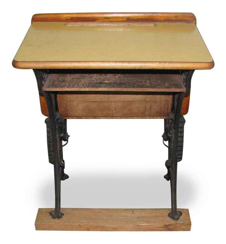 Antique School Desk with Iron Legs - Vintage & Used Antique School Desks Chairish