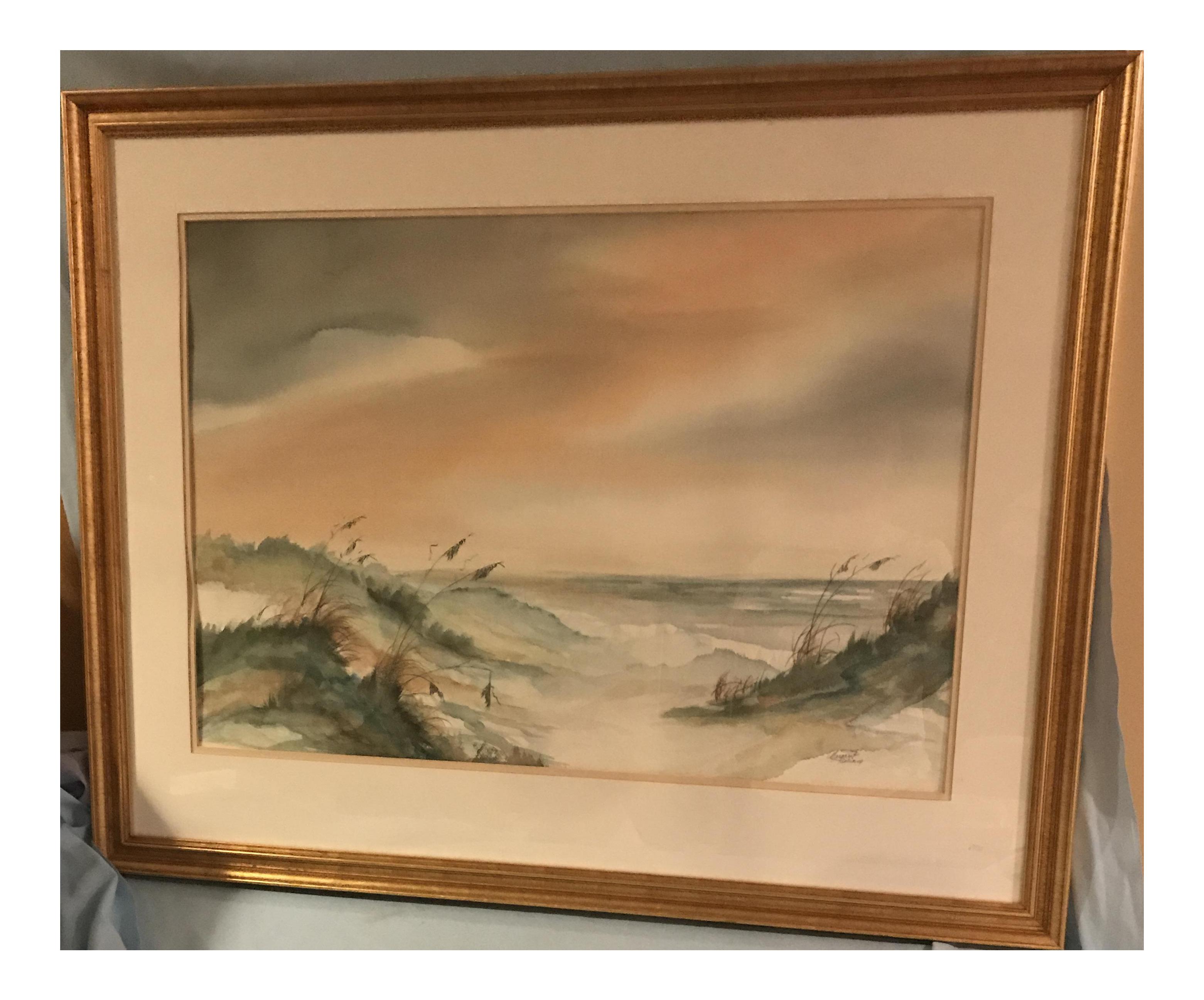 Margaret Glidewell Pulliam Original Coastal Landscape Watercolor ...