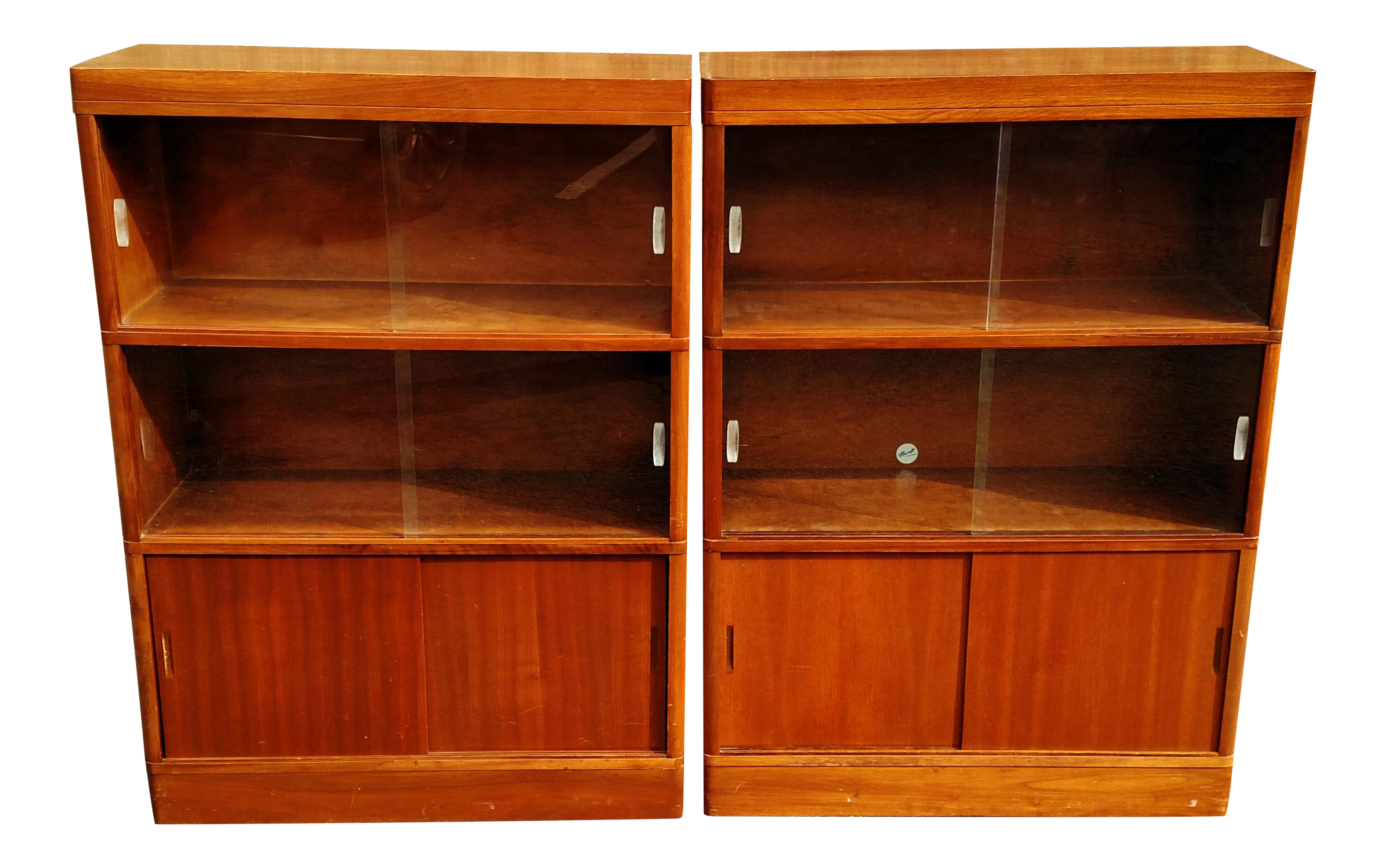 Nucraft Mid Century Modern Stack Bookcases a Pair