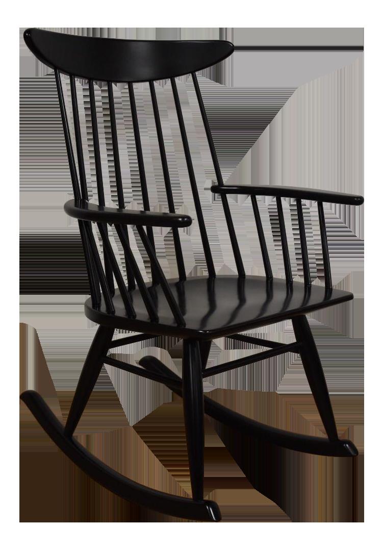 Ebony black rocking chair, cheater caught nude
