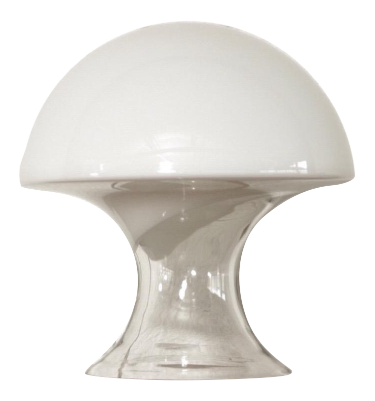Mid Century Gino Vistosi Murano Glass Mushroom Table Lamp