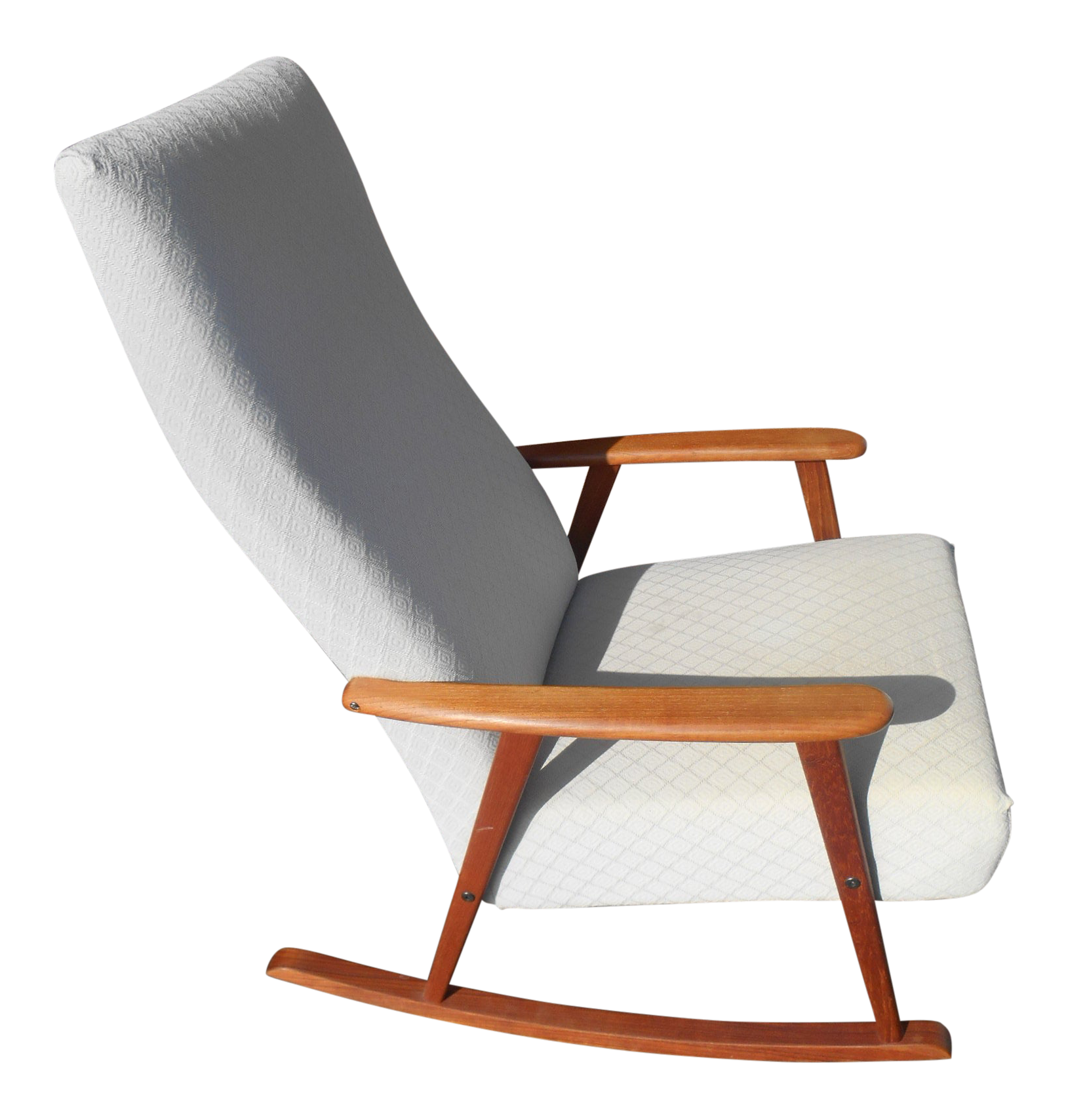 Vintage 1960s Mid Century Modern Danish Teak Rocking Chair Chairish