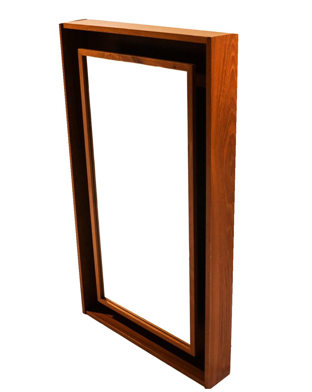 Pedersen Amp Hansen Danish Modern Teak Lighted Mirror Chairish