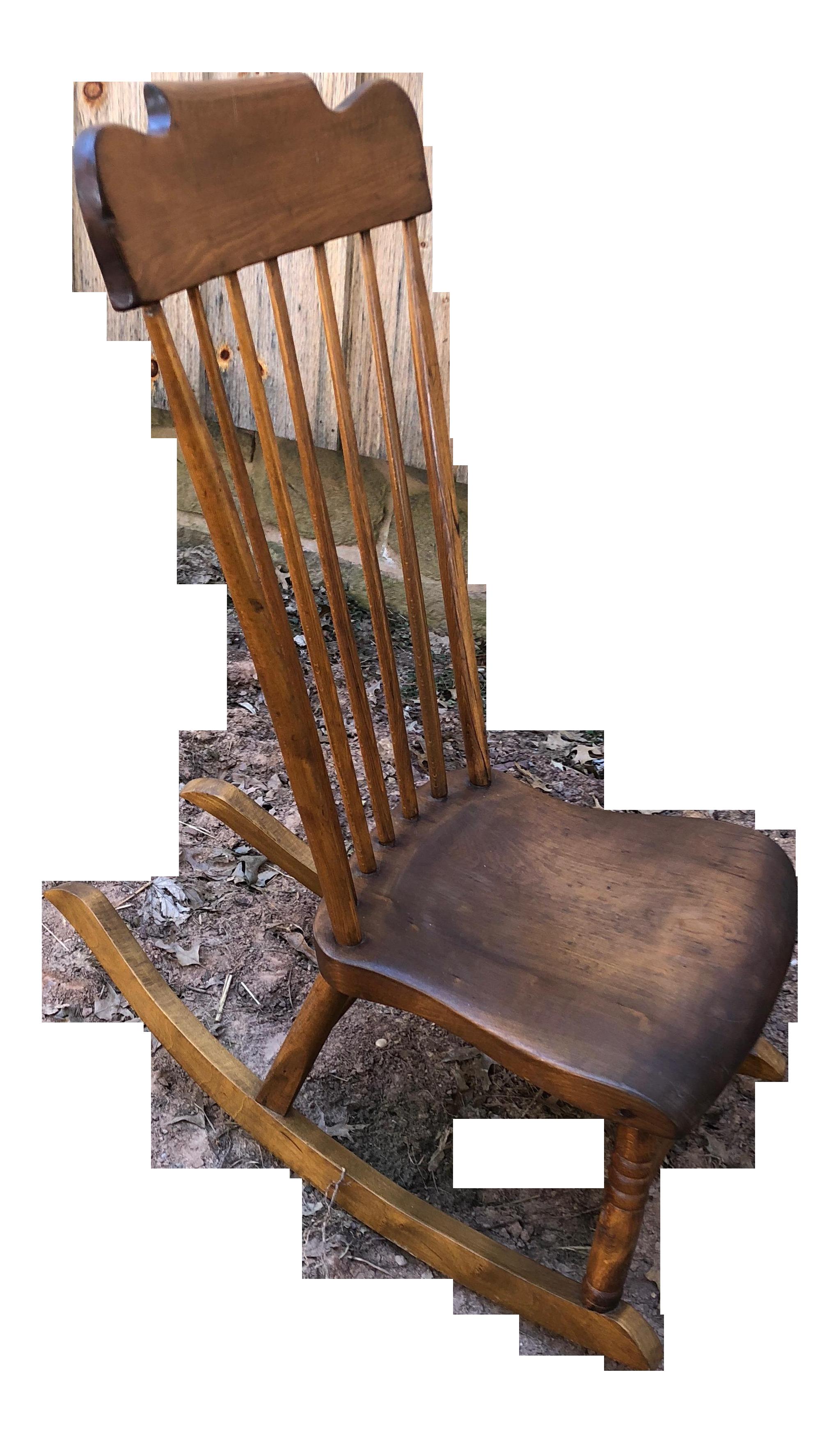 Brilliant 1940S Vintage Low Slung Nursing Rocking Chair Spiritservingveterans Wood Chair Design Ideas Spiritservingveteransorg