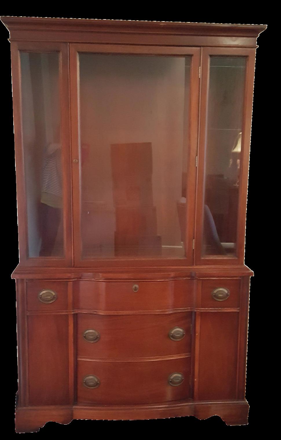 - Antique Cherry China Cabinet