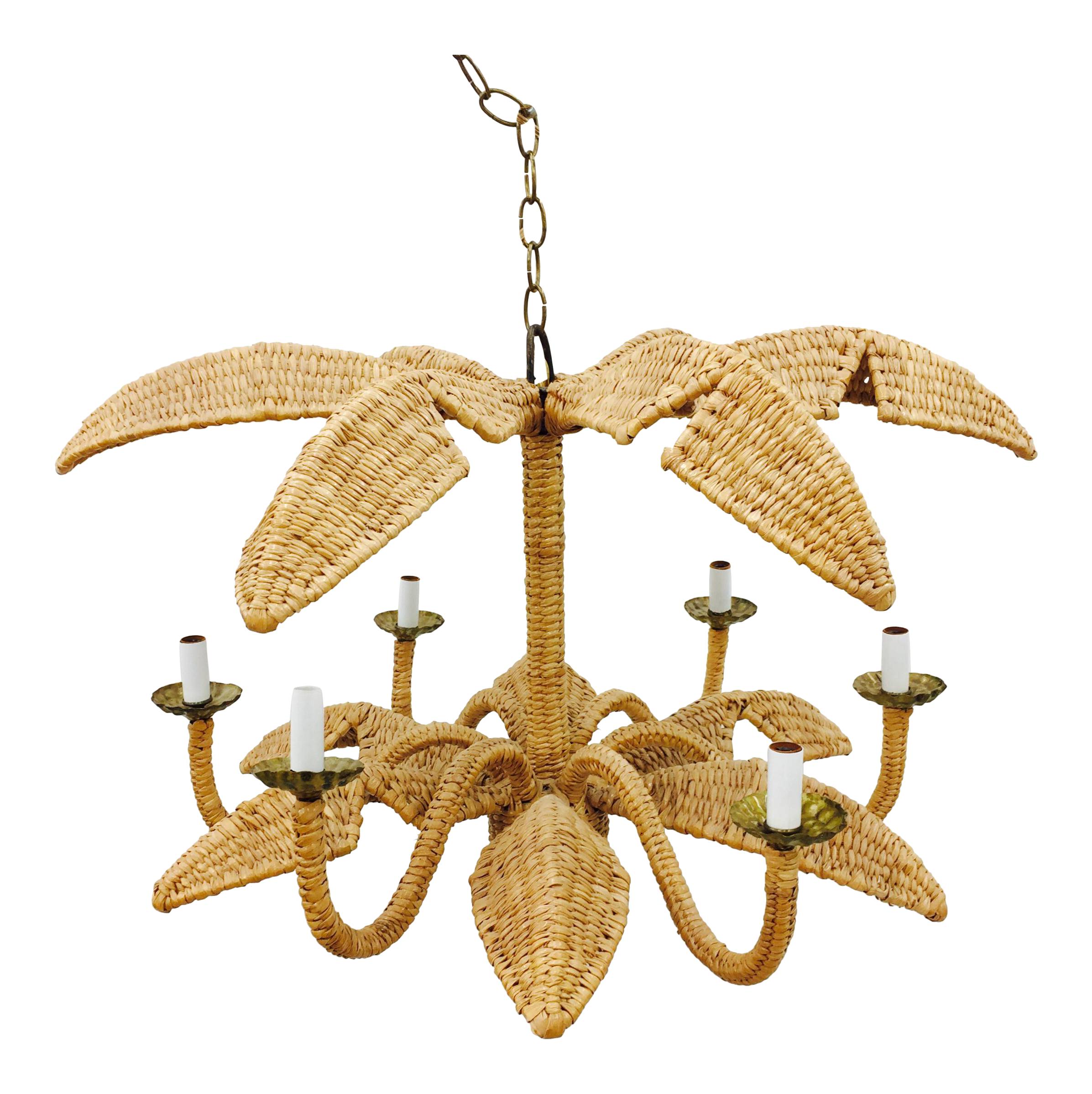 Mario lopez torres palm leaf chandelier chairish arubaitofo Choice Image
