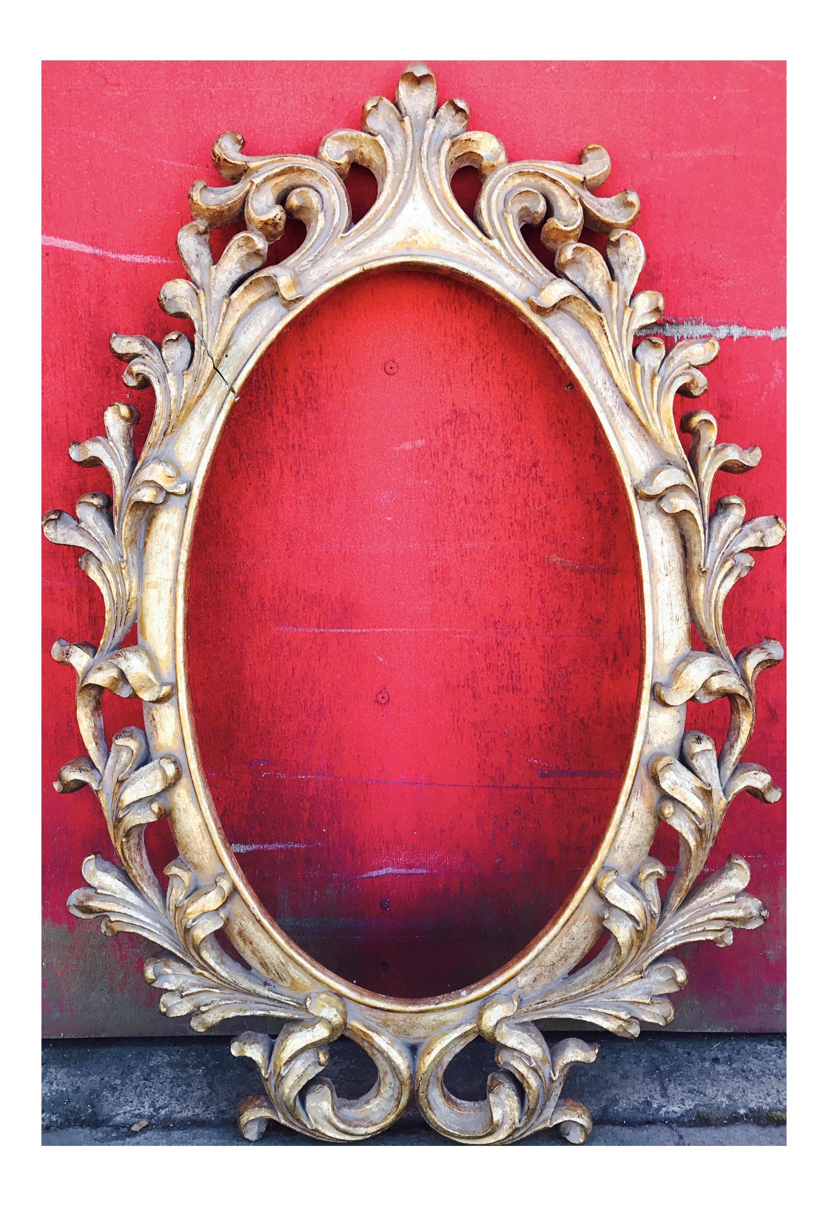 Vintage Gold Gilt Wood & Gesso Mirror Frame   Chairish