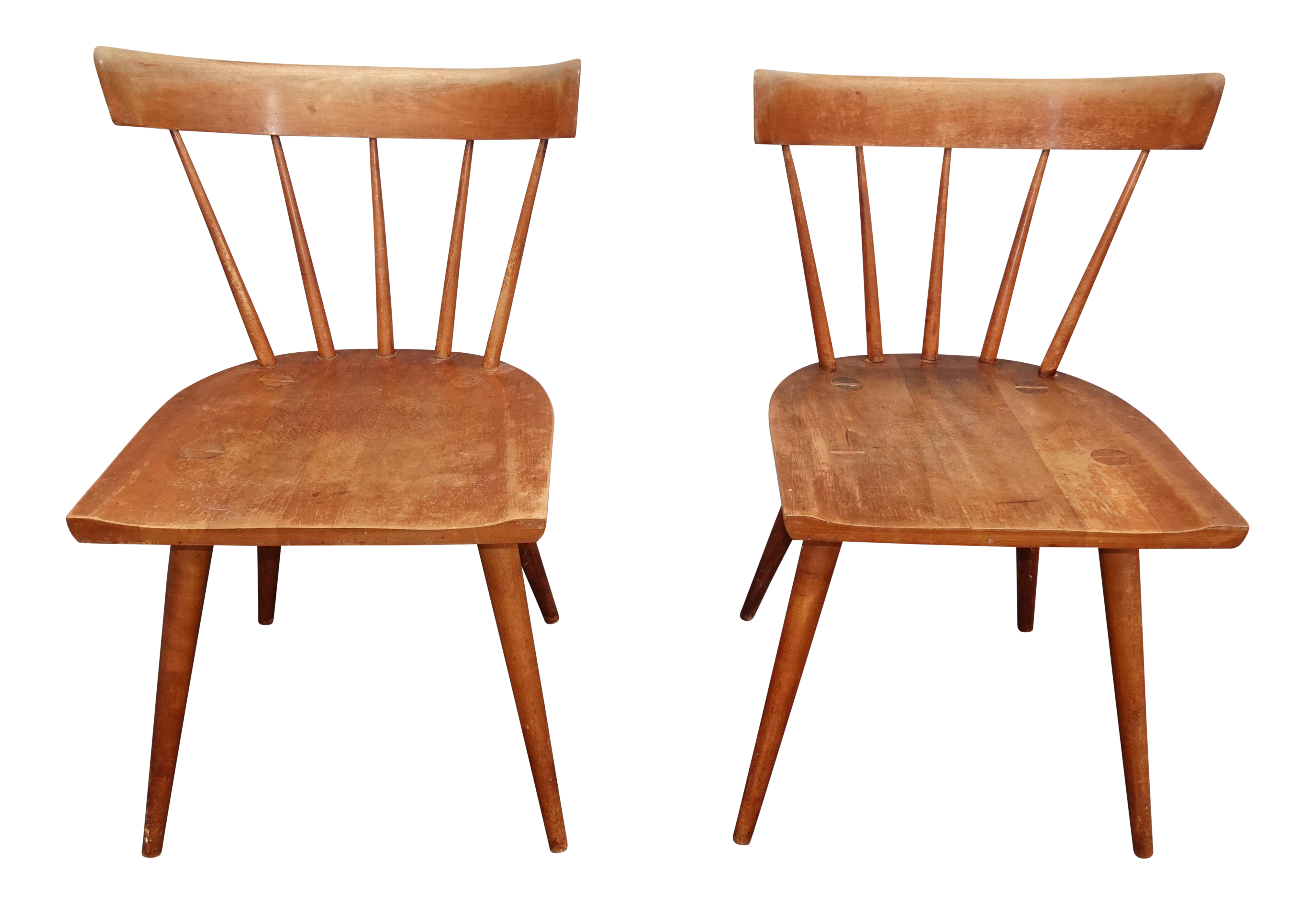 Vintage Mid Century Paul Mccobb Planner Group Chairs A Pair