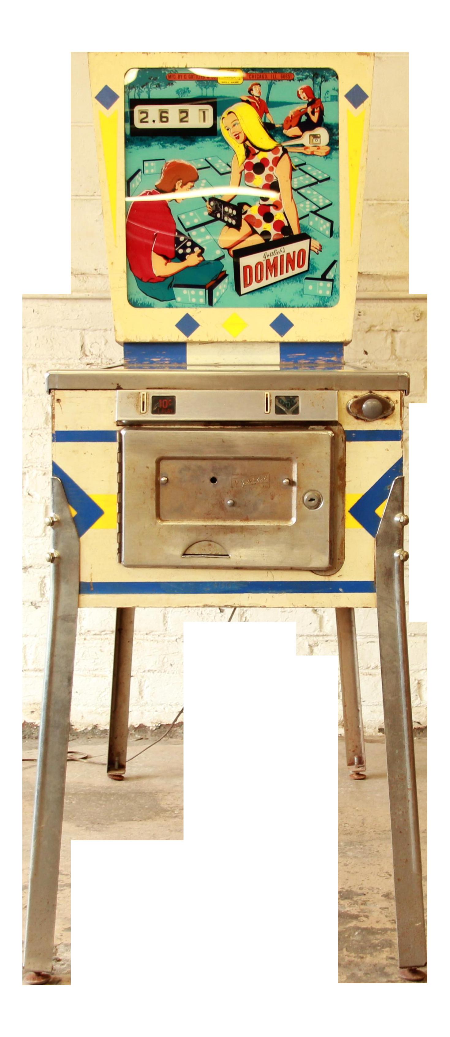 1968 Gottlieb Domino Pinball Machine Chairish