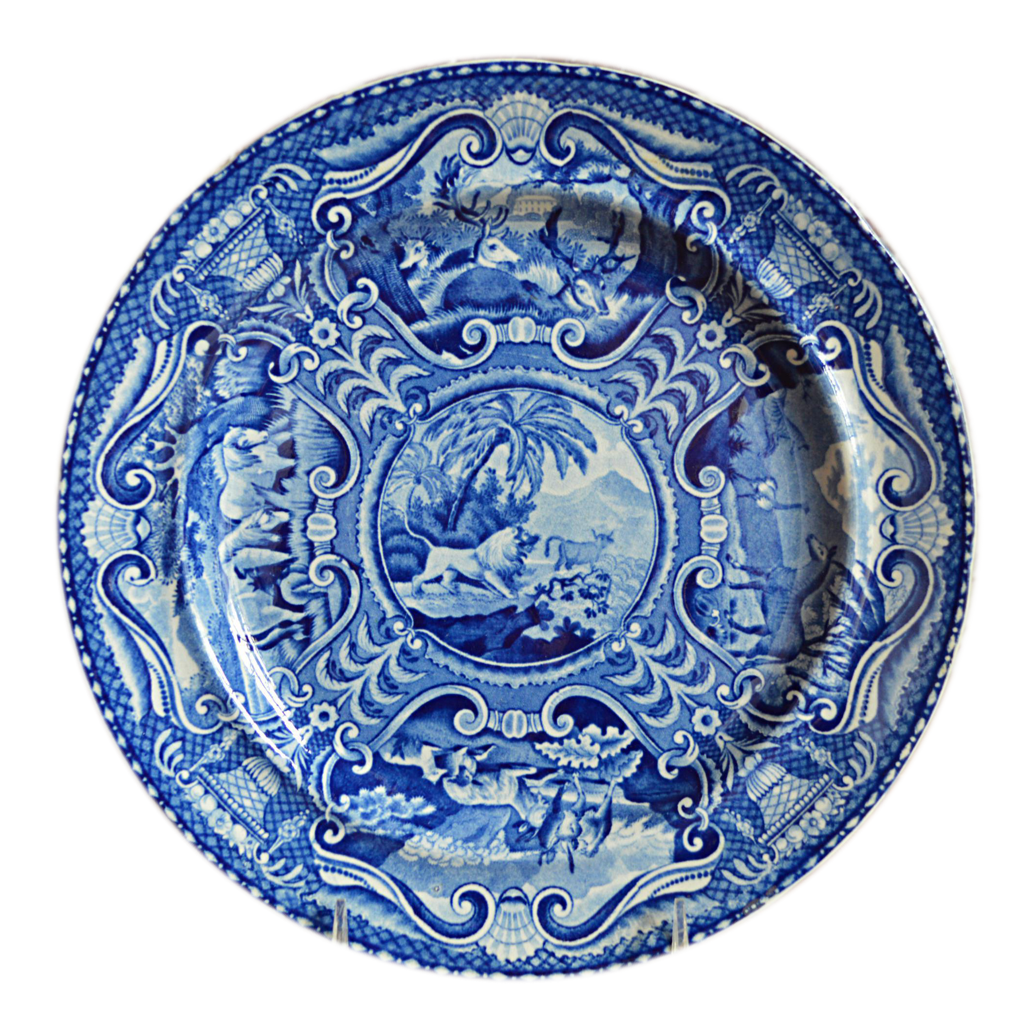 Quadrupeds Transferware Plate John Hall Staffordshire  sc 1 st  Chairish & Vintage \u0026 Used English Traditional Dinnerware | Chairish