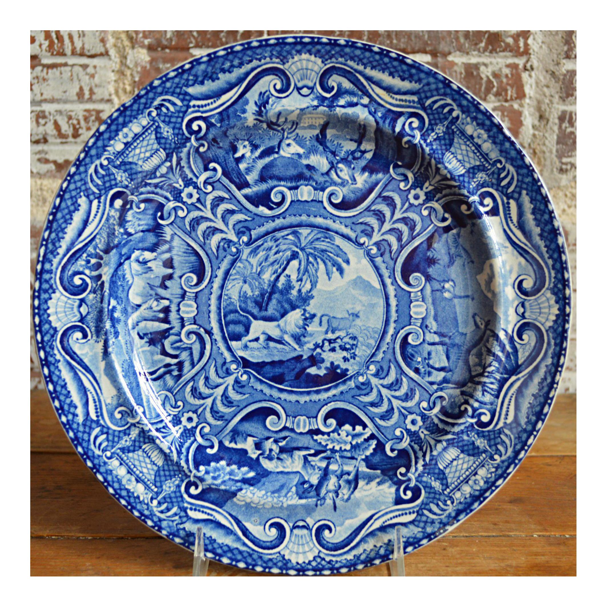 Quadrupeds Transferware Plate John Hall Staffordshire  sc 1 st  Chairish & Vintage \u0026 Used English Traditional Dinnerware | Chairish