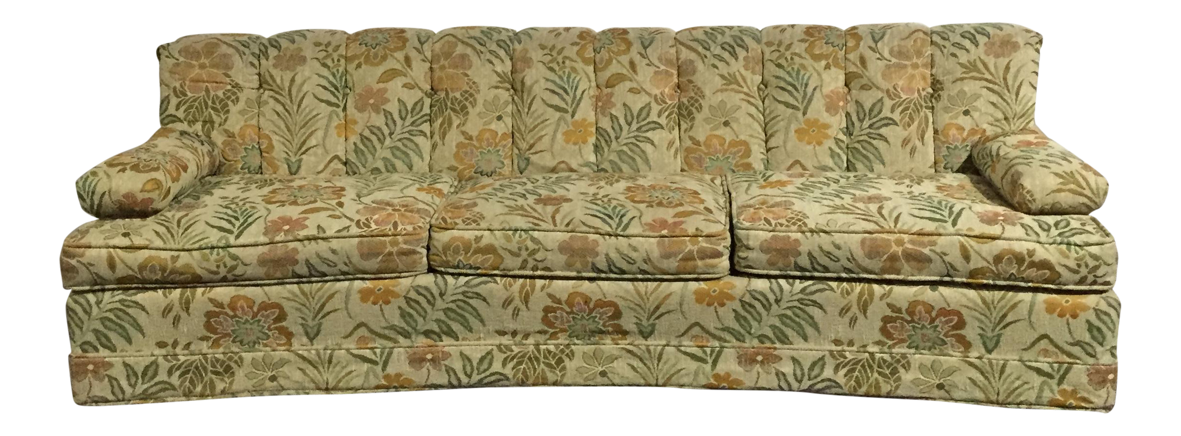 Fantastic Vintage 60S Retro Floral Sofa Onthecornerstone Fun Painted Chair Ideas Images Onthecornerstoneorg