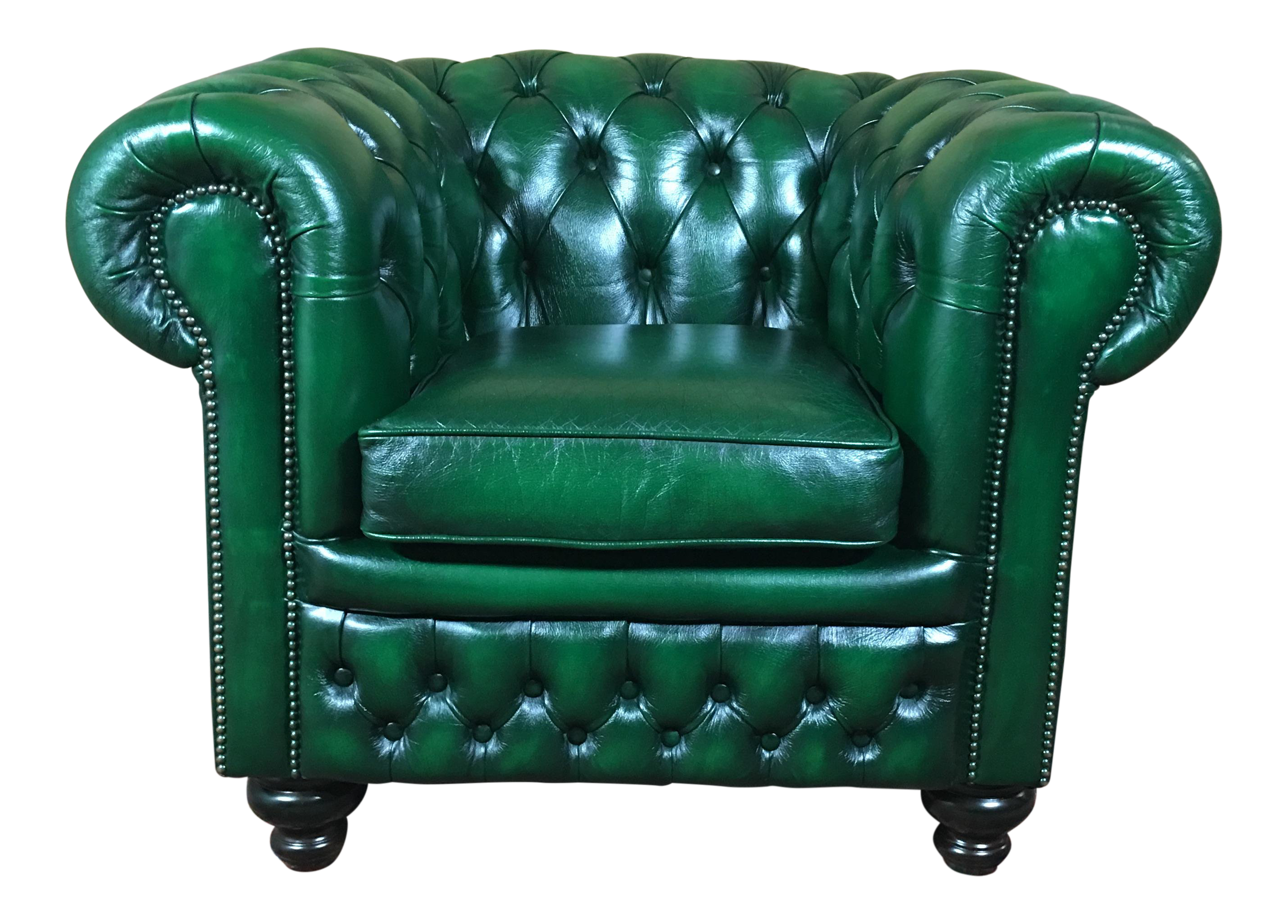 Green Leather Sofa Chesterfield - Beautiful House Design