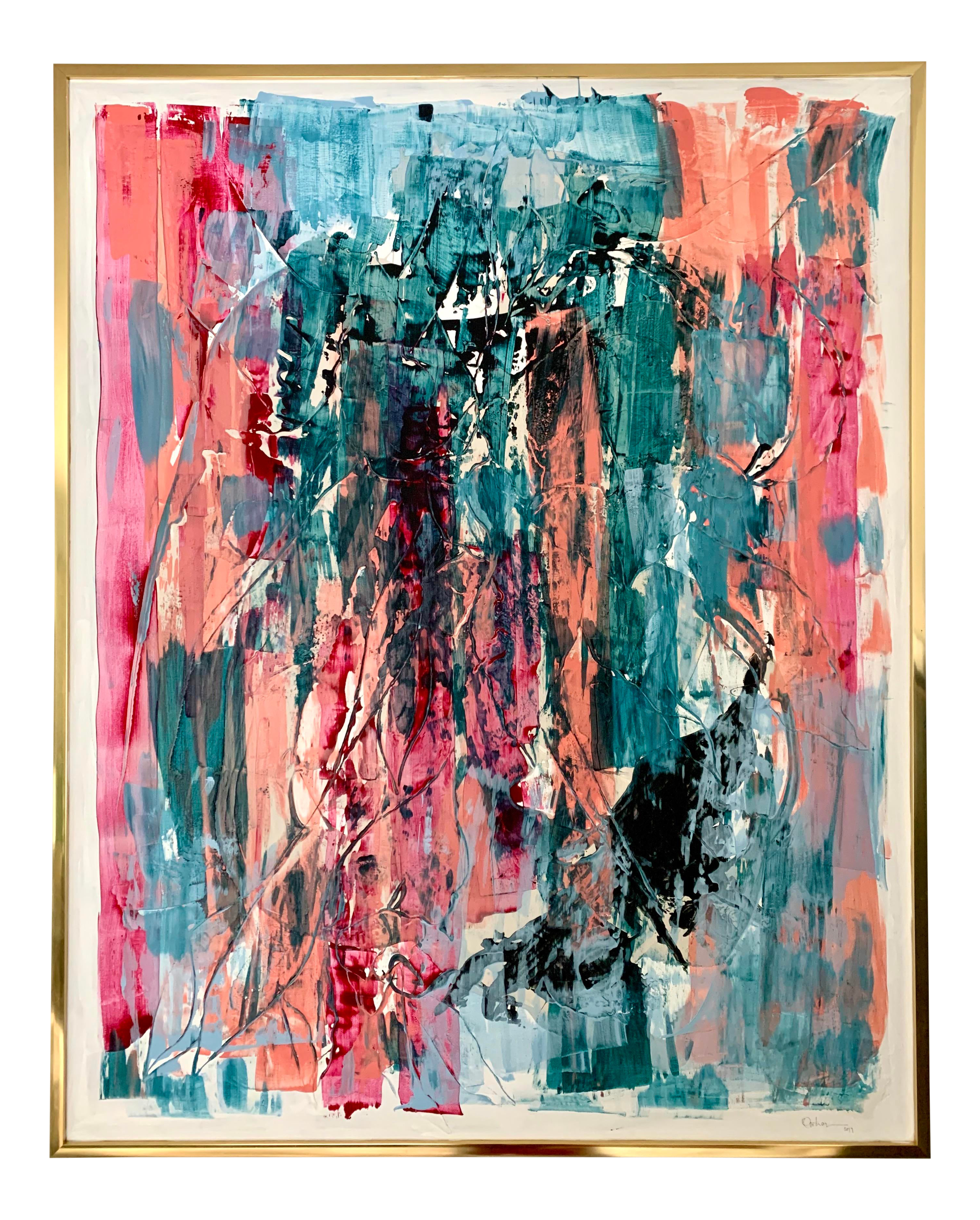 5x7 Abstract Acyclic Painting