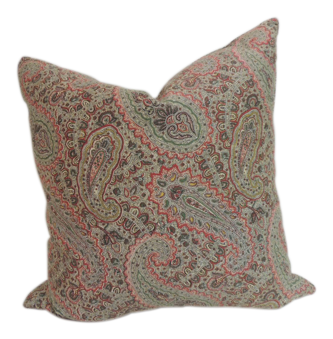 Ralph Lauren Decorative Couch Pillows : Ralph Lauren Paisley Decorative Pillow Chairish