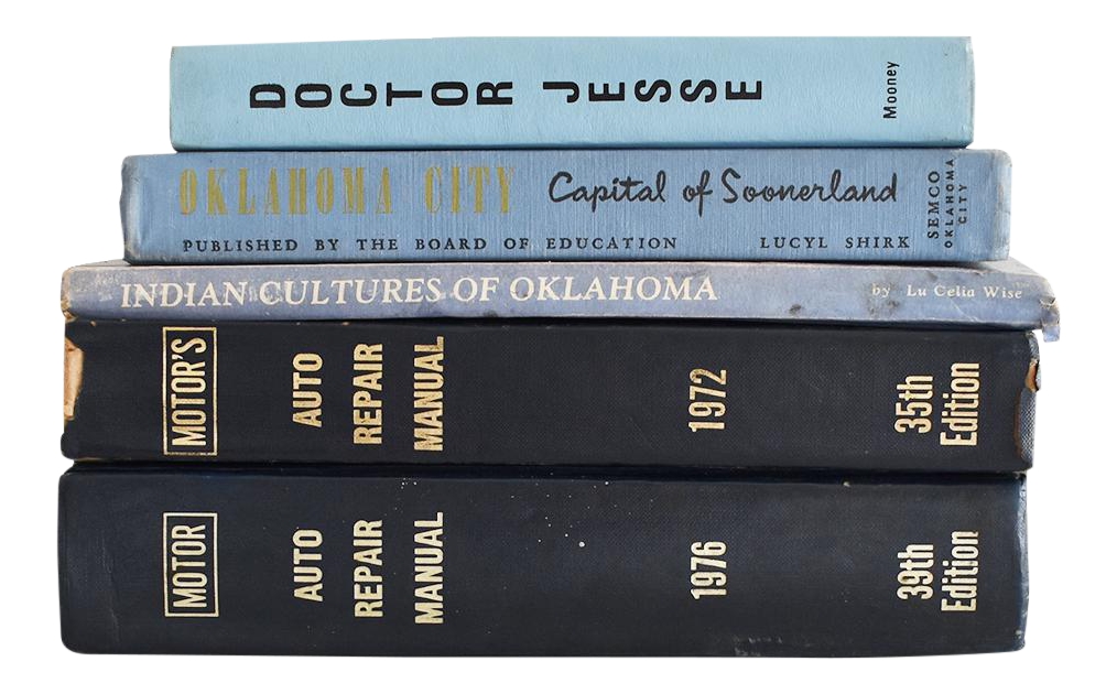 Vintage Blue Book Collection - Set of 5 | Chairish