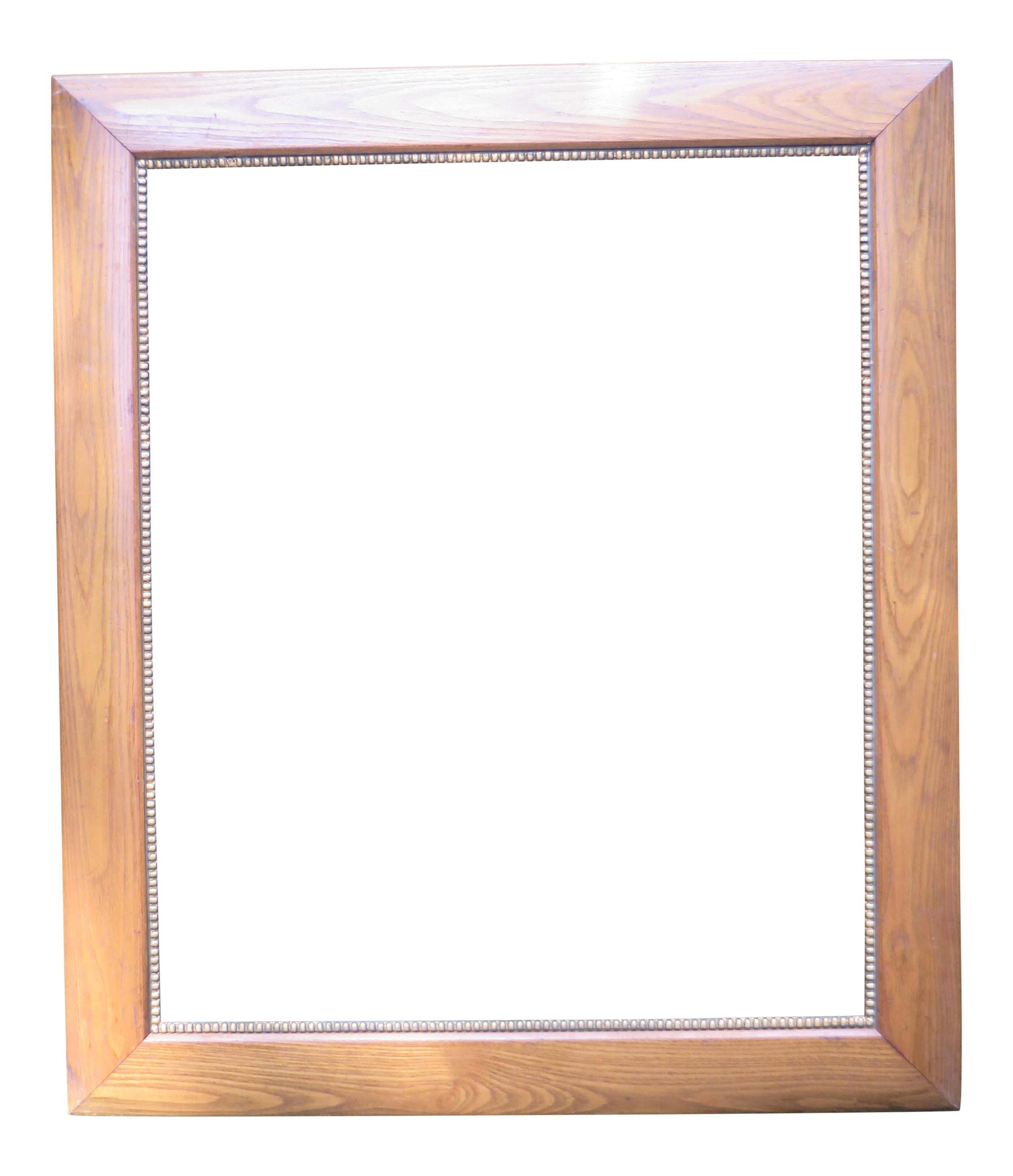 Vintage Large Picture Frame Wood With an Inner Border of Gold ...