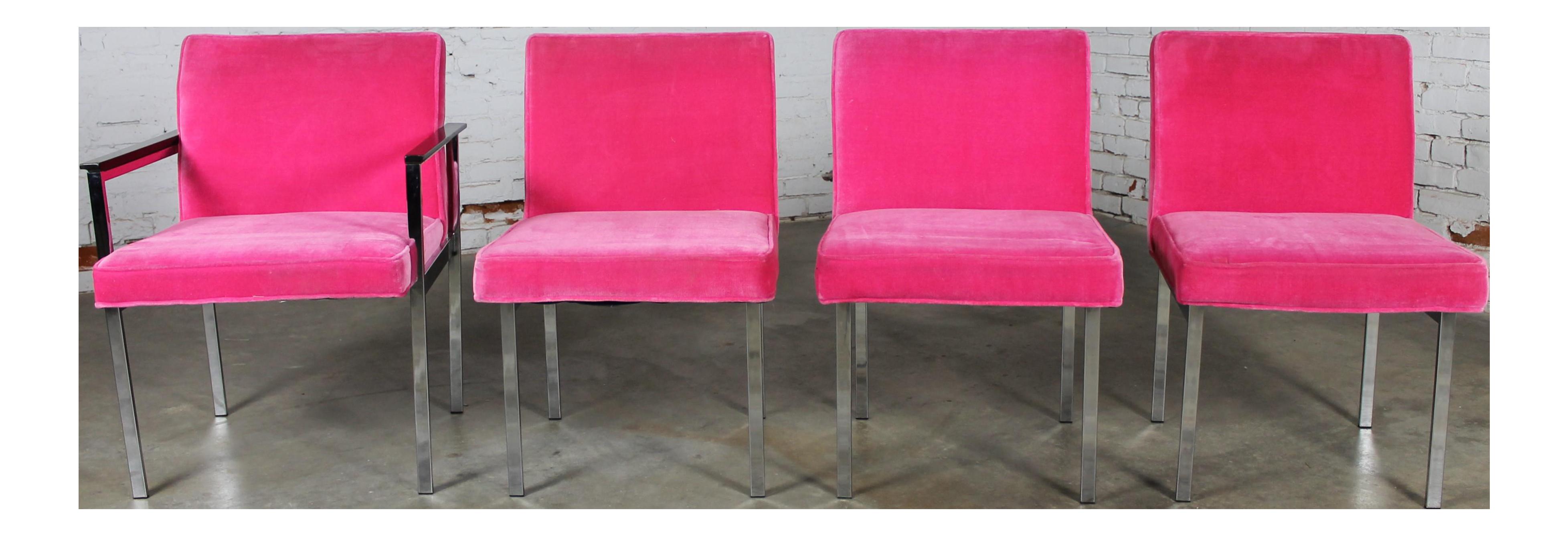 Vintage American of Martinsville Mid Century Modern Hot Pink