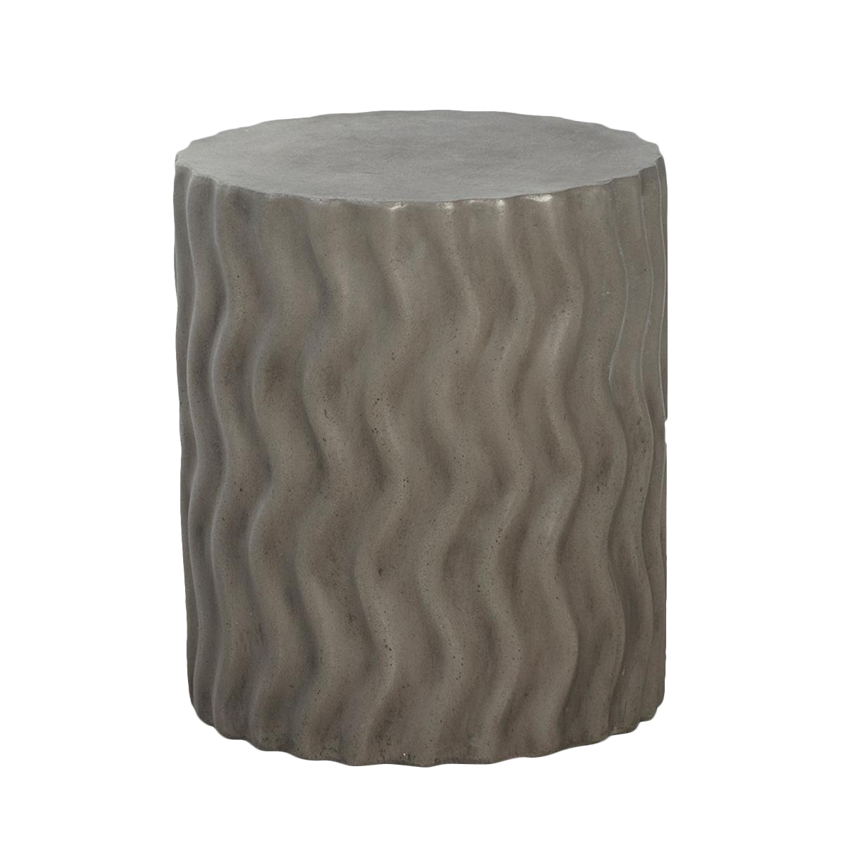 Cement side table Hand Side Chairish Cement Waves Side Table Chairish