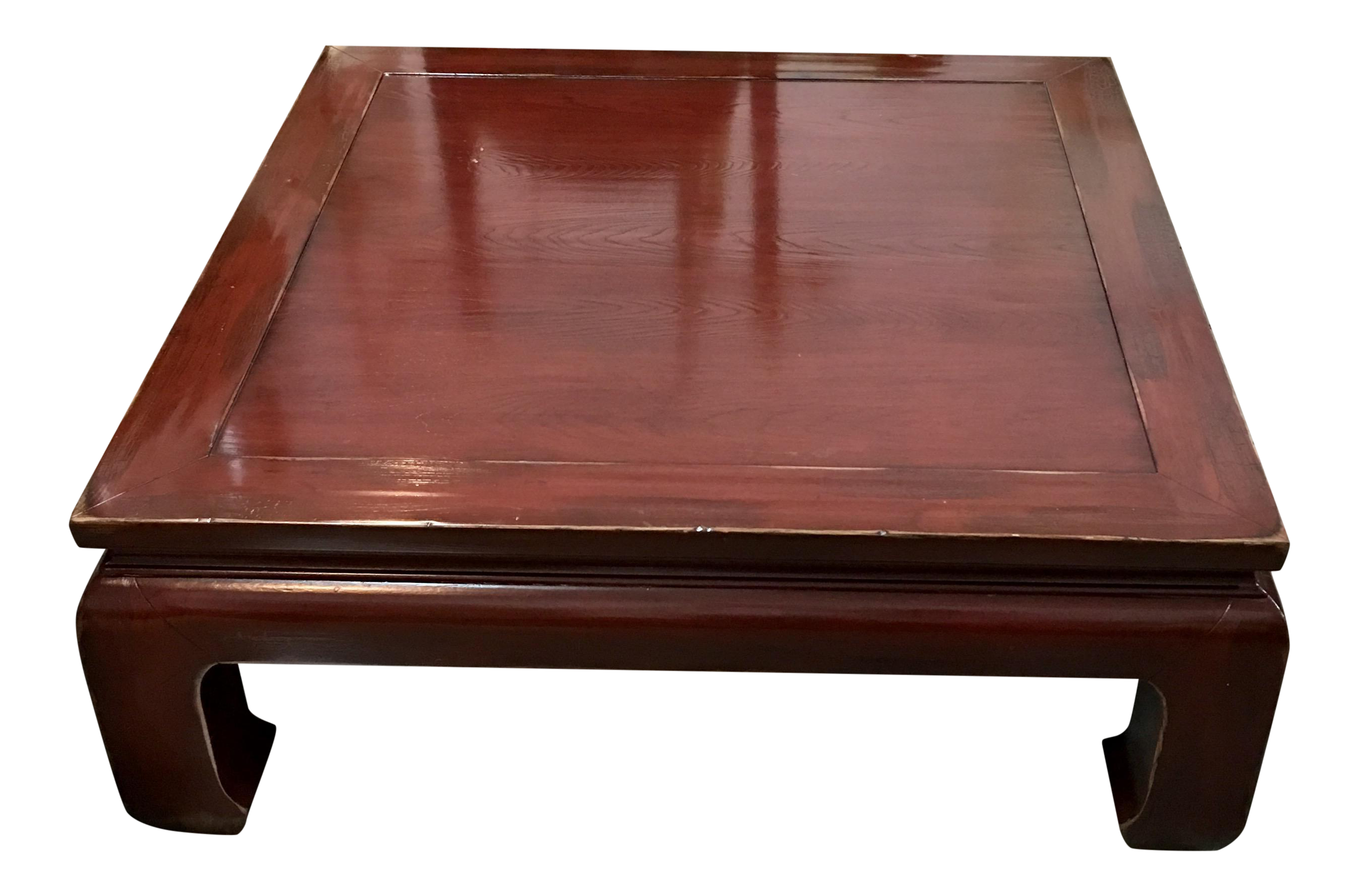 Ethan Allen Ming Style Cherry Veneer Coffee Table