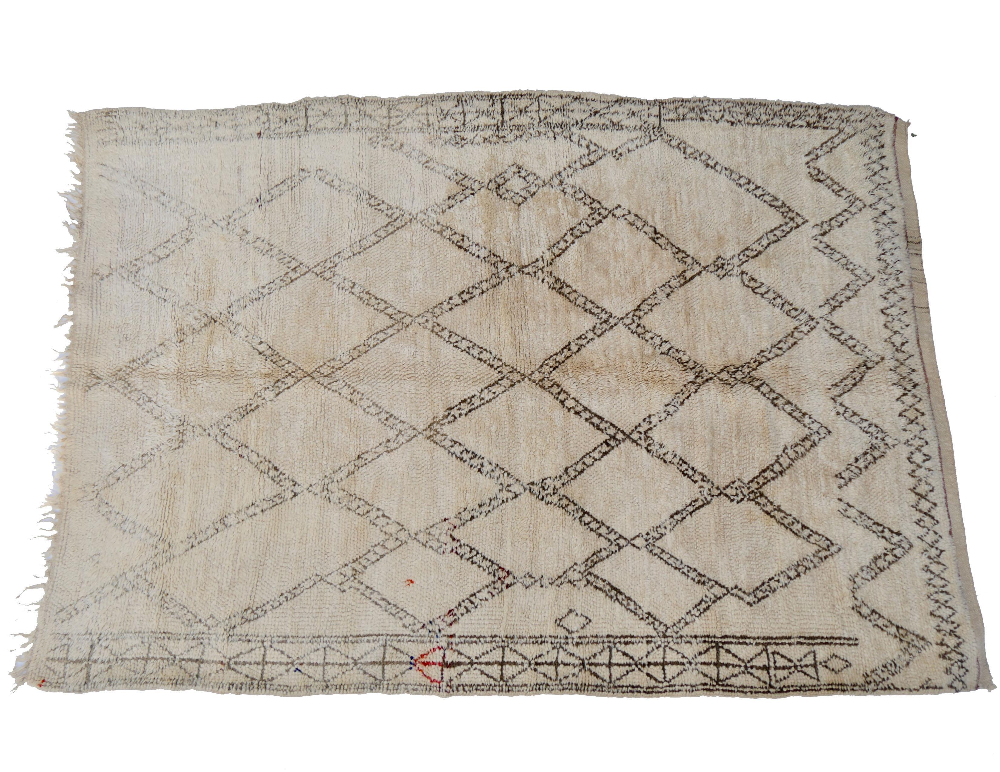 Verrassend Vintage Moroccan Beni Ourain Rug | Chairish ZL-59