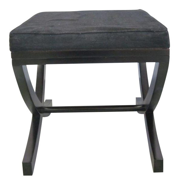 Distinguished Pair Of French X Frame Benches Stools In