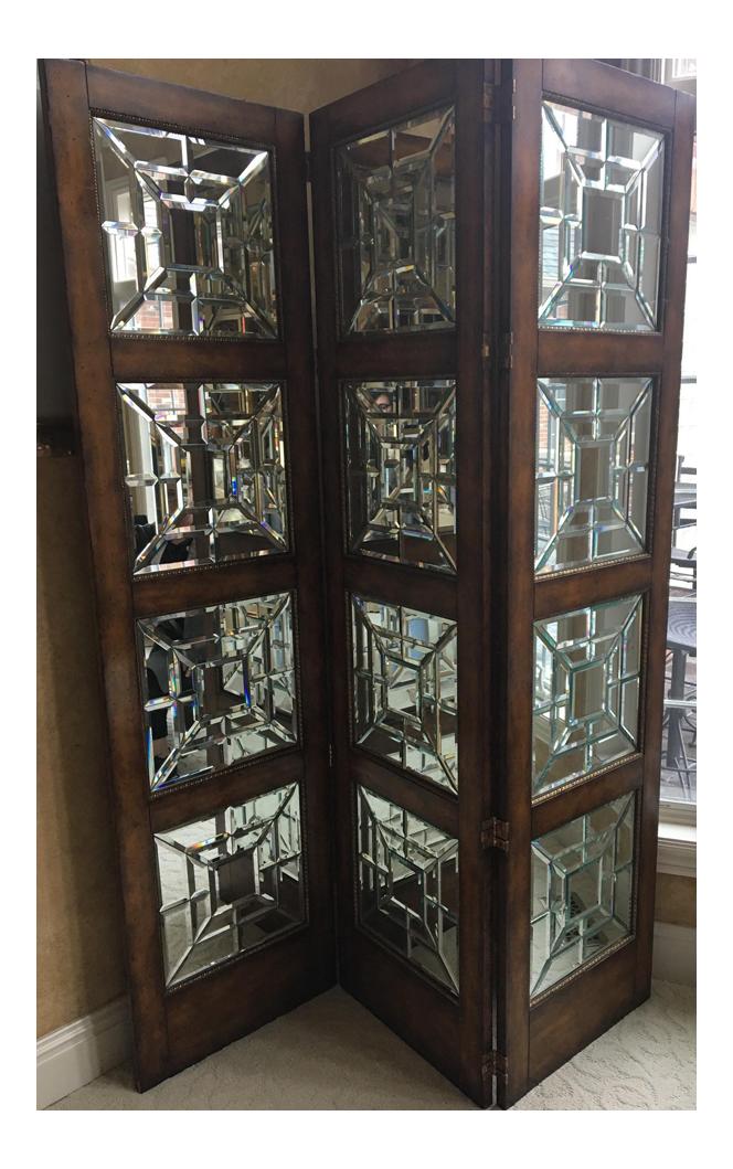 Maitland Smith Mirrored Screen Chairish