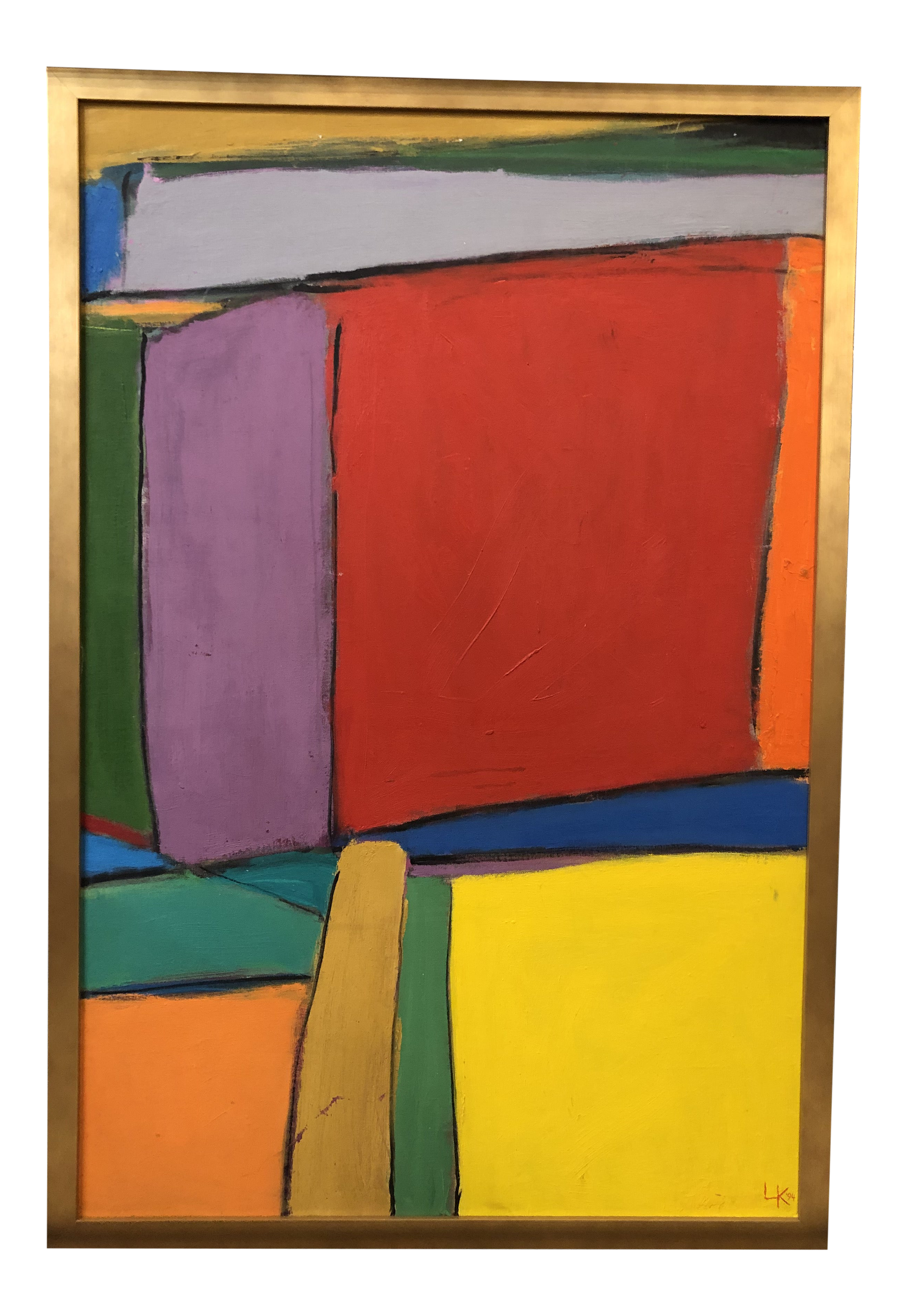 Abstract Color Block Painting On Board Chairish