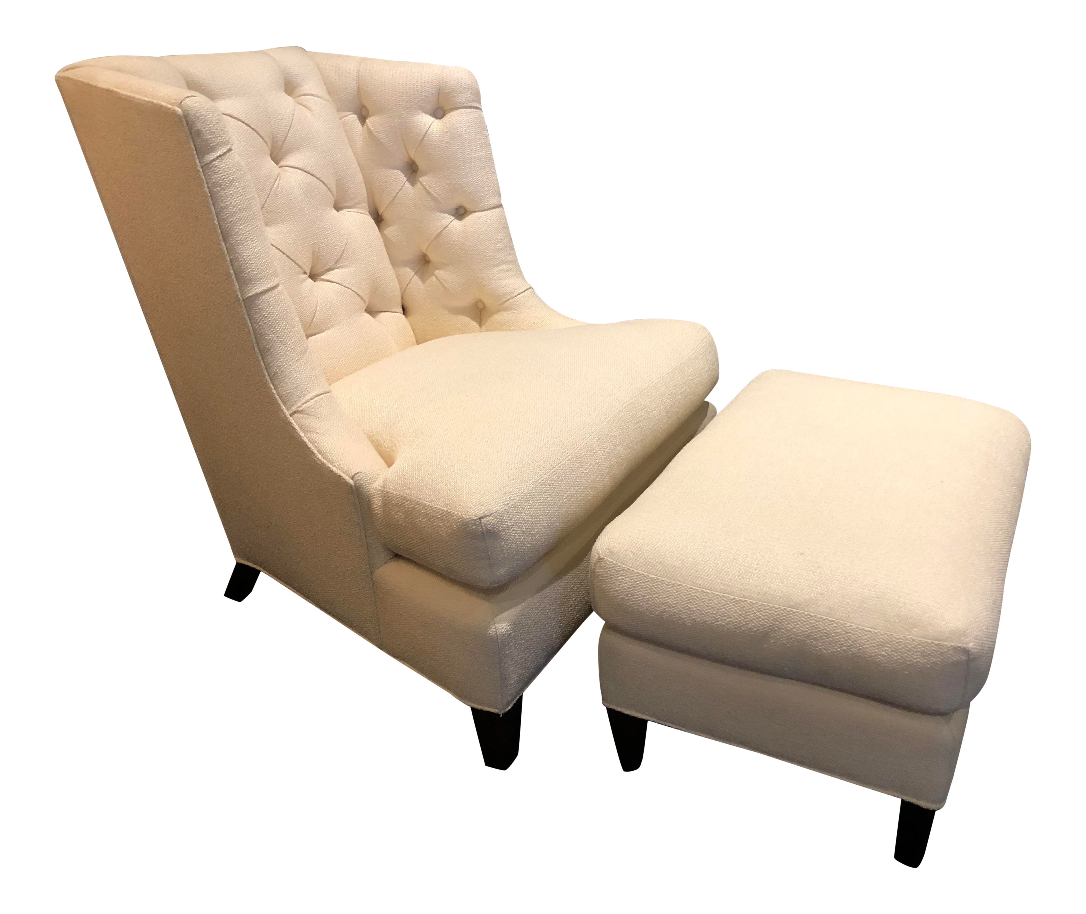 Baker Furniture Moderne Wing Chair Ottoman The Thomas Pheasant Collection
