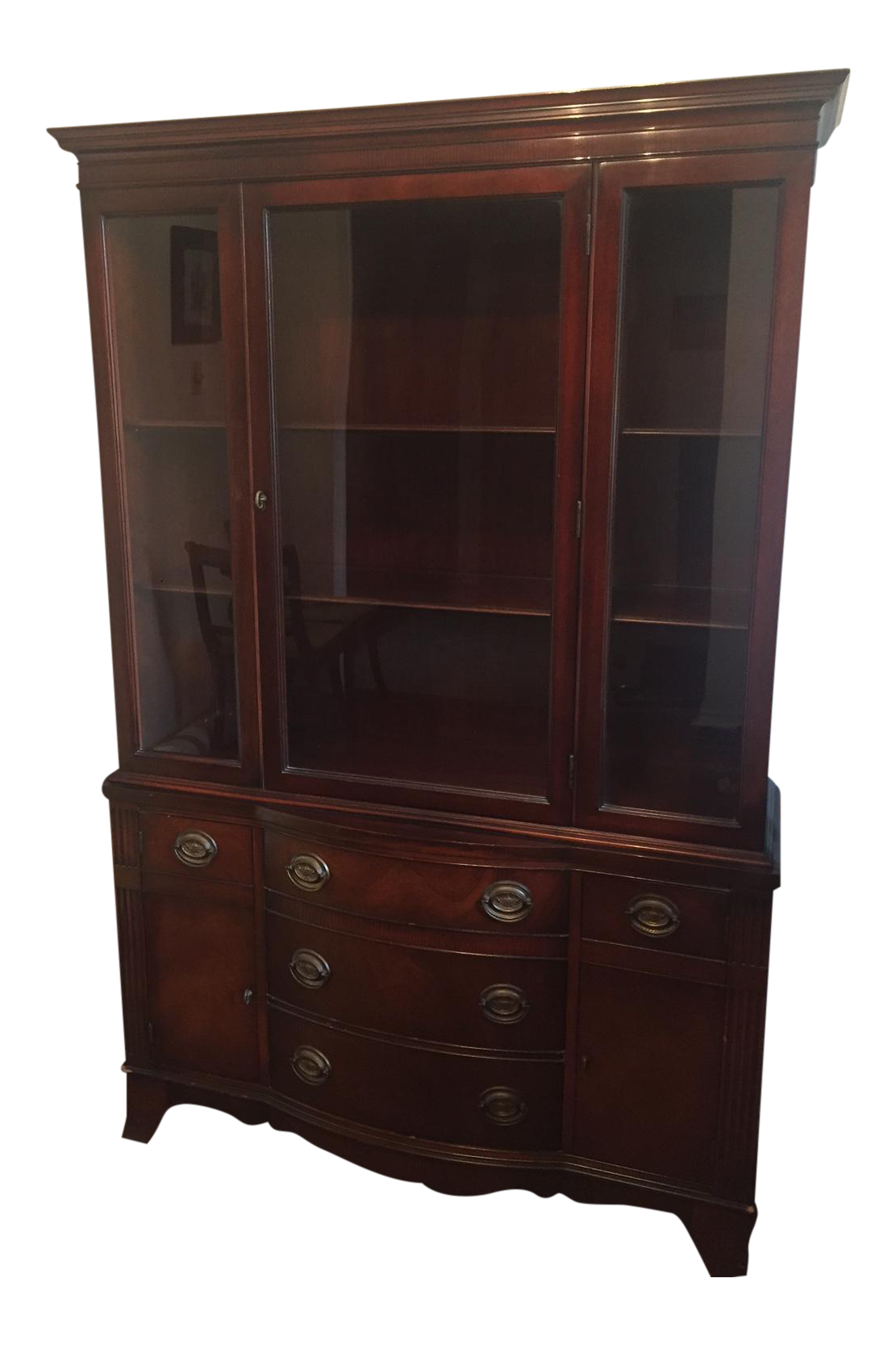 Vintage Drexel Heritage Chatham Court China Cabinet Chairish