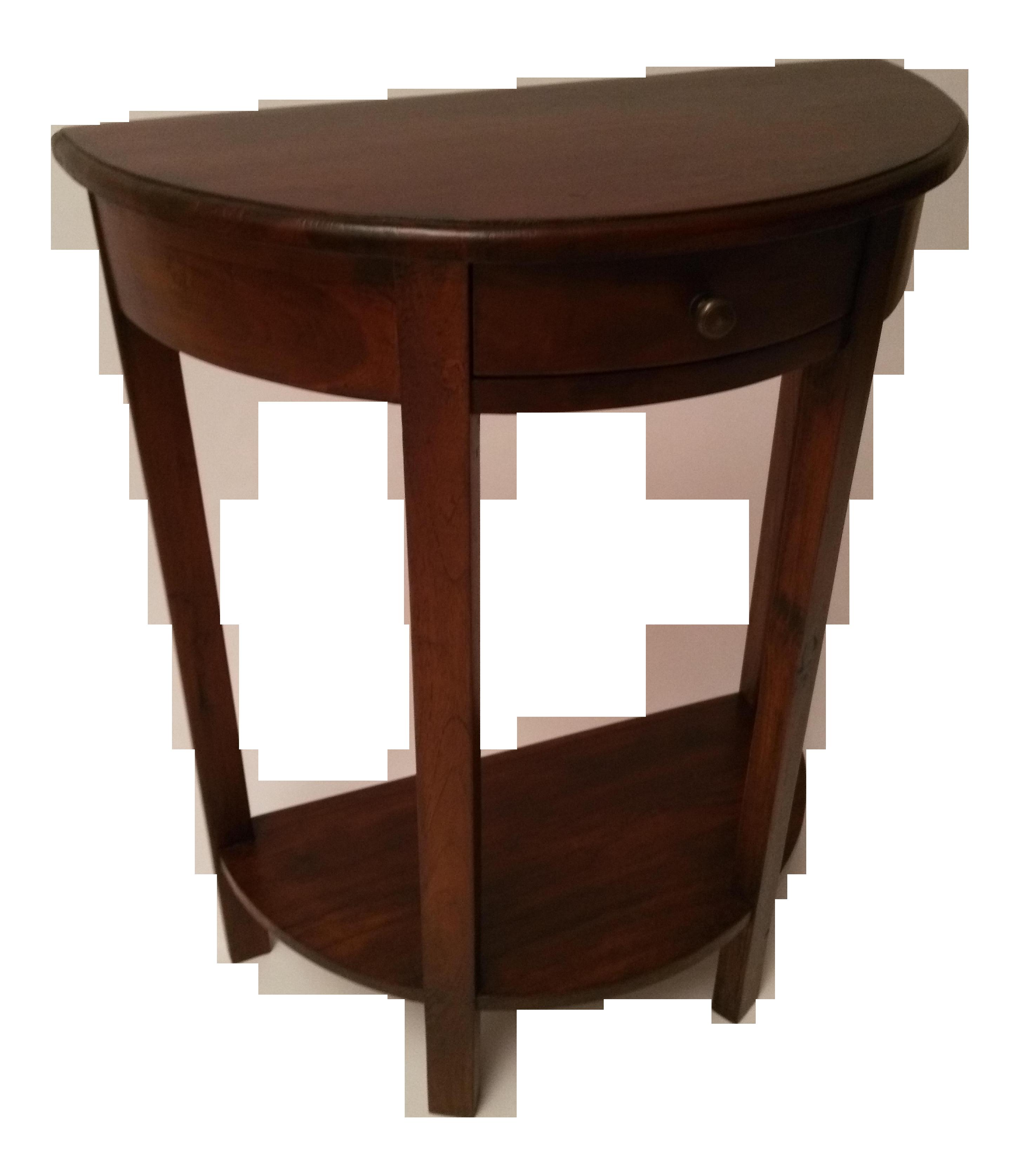 Demi lune side table chairish - Table demi lune murale ...