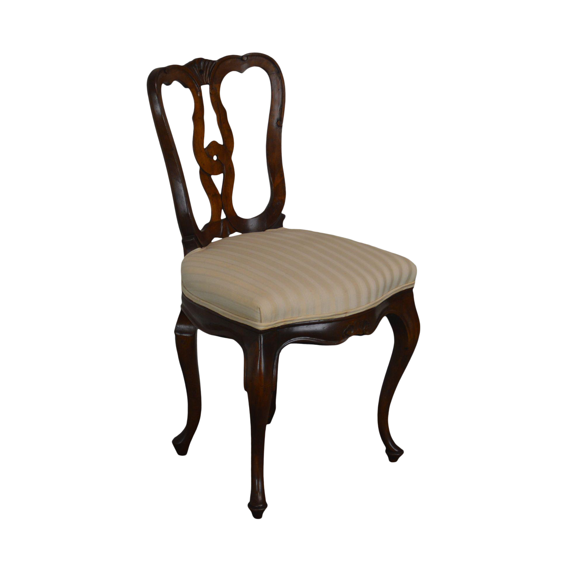 French Country Style Vintage Walnut Side Or Desk Chair Chairish
