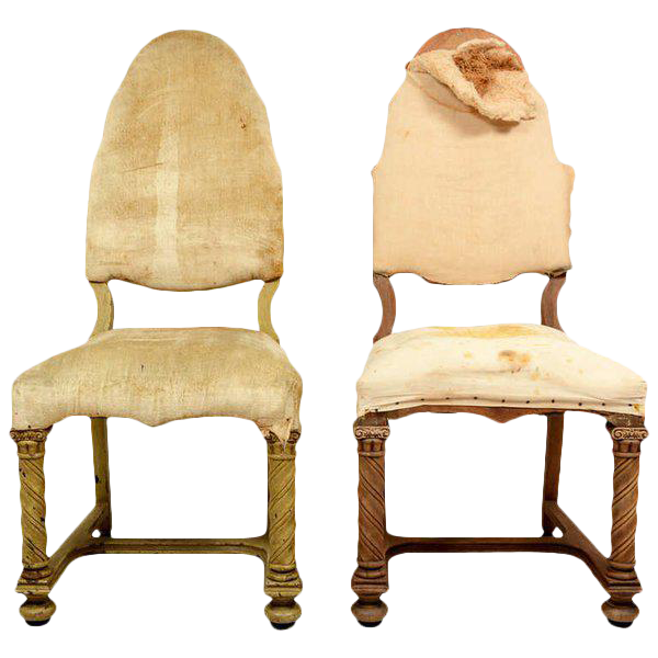 - Lovely Pair Of Antique Hand-Carved Chairs DECASO