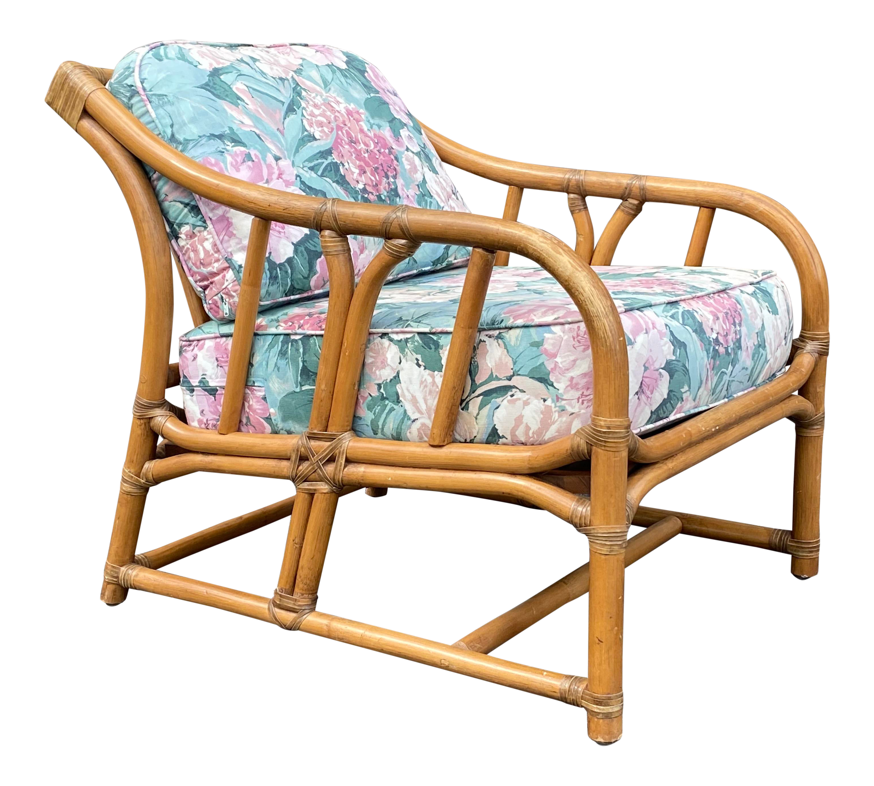 Mid Century Ficks Reed Rattan Lounge Chair Chairish