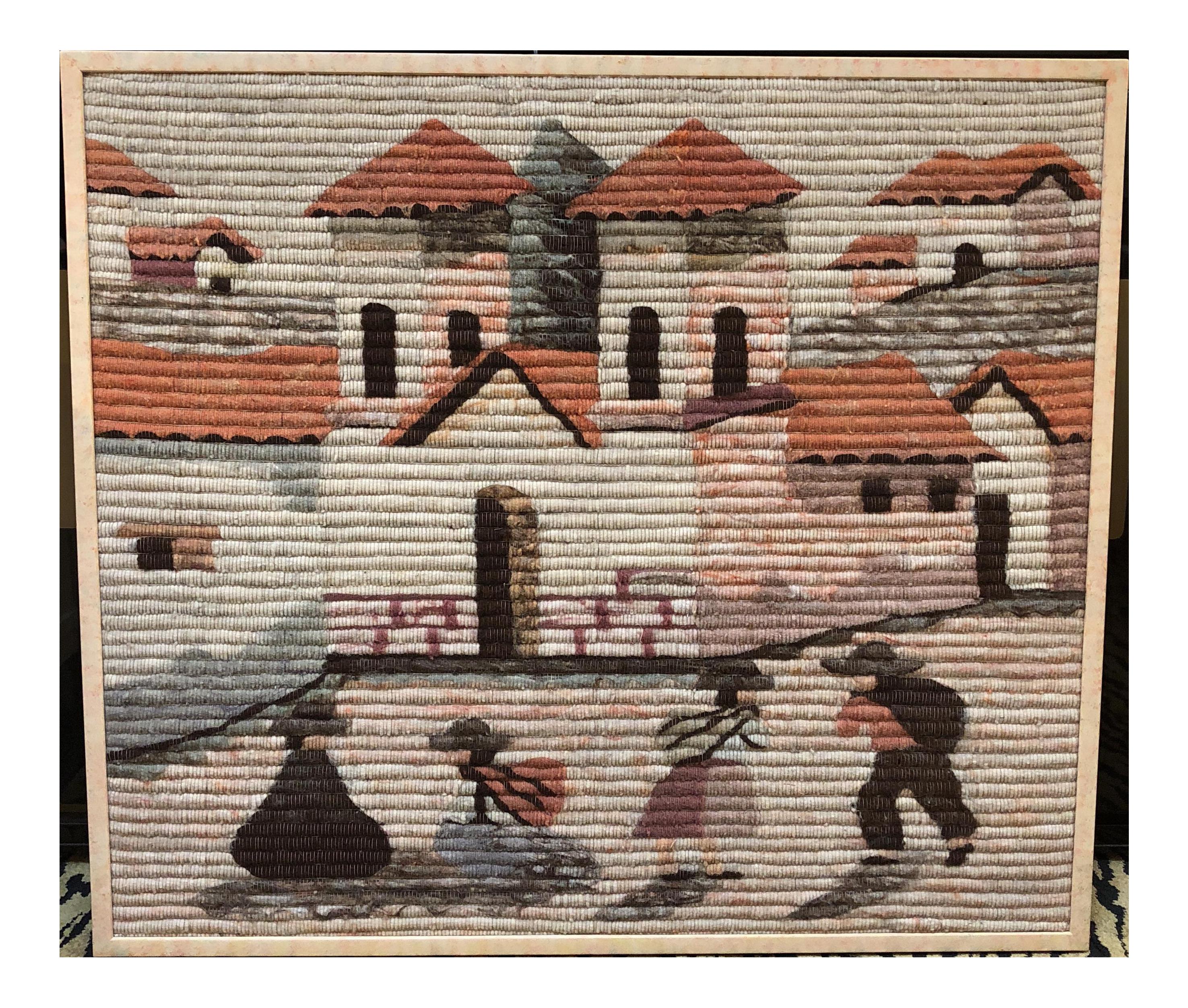 Framed Hand Woven Peruvian Textile Art | Chairish