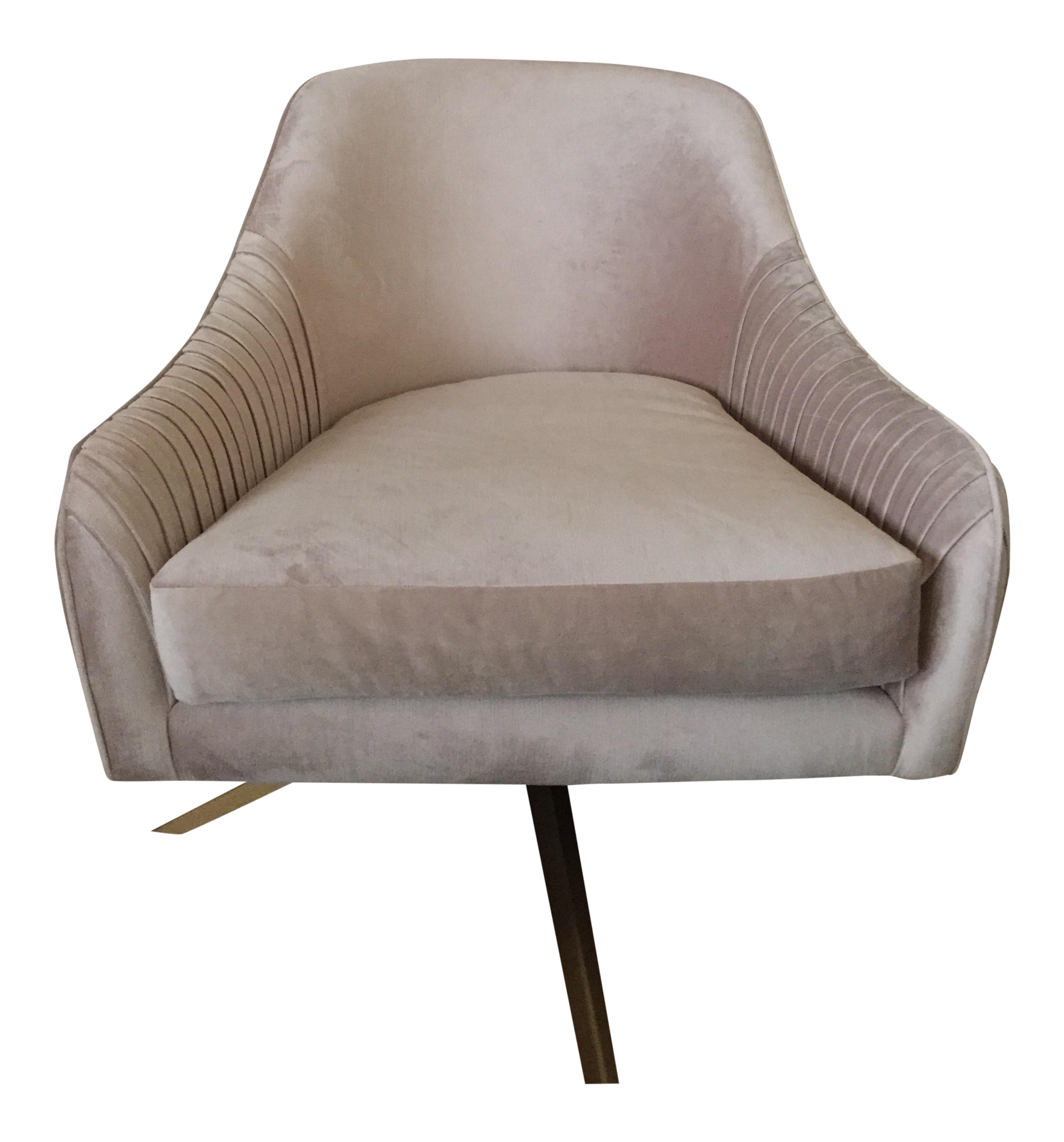 West Elm Swivel Chair Chairish