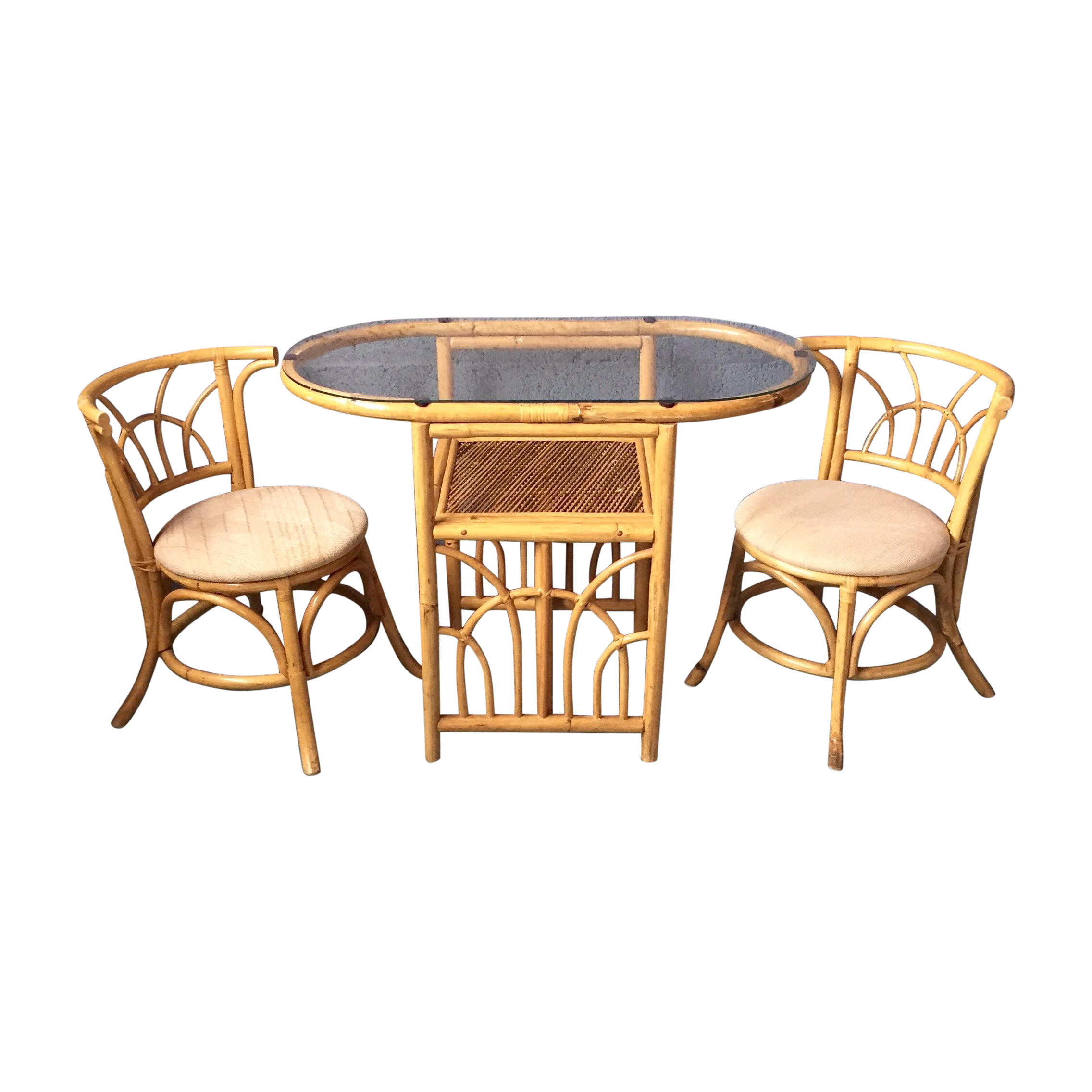 Vintage 1980s Bamboo Dining Set | Chairish