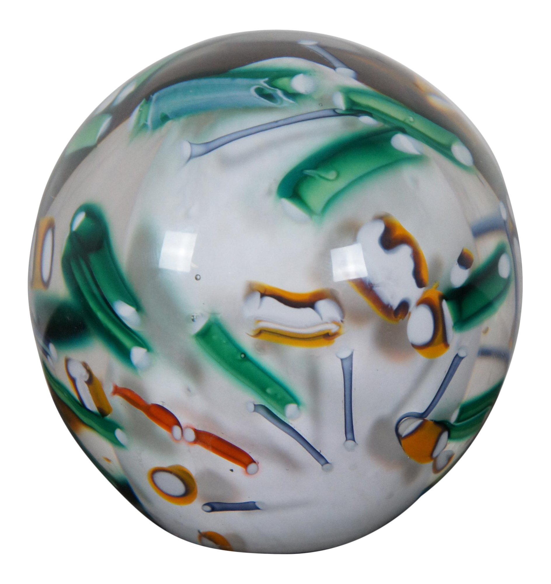 Art Glass Abstract Paperweight