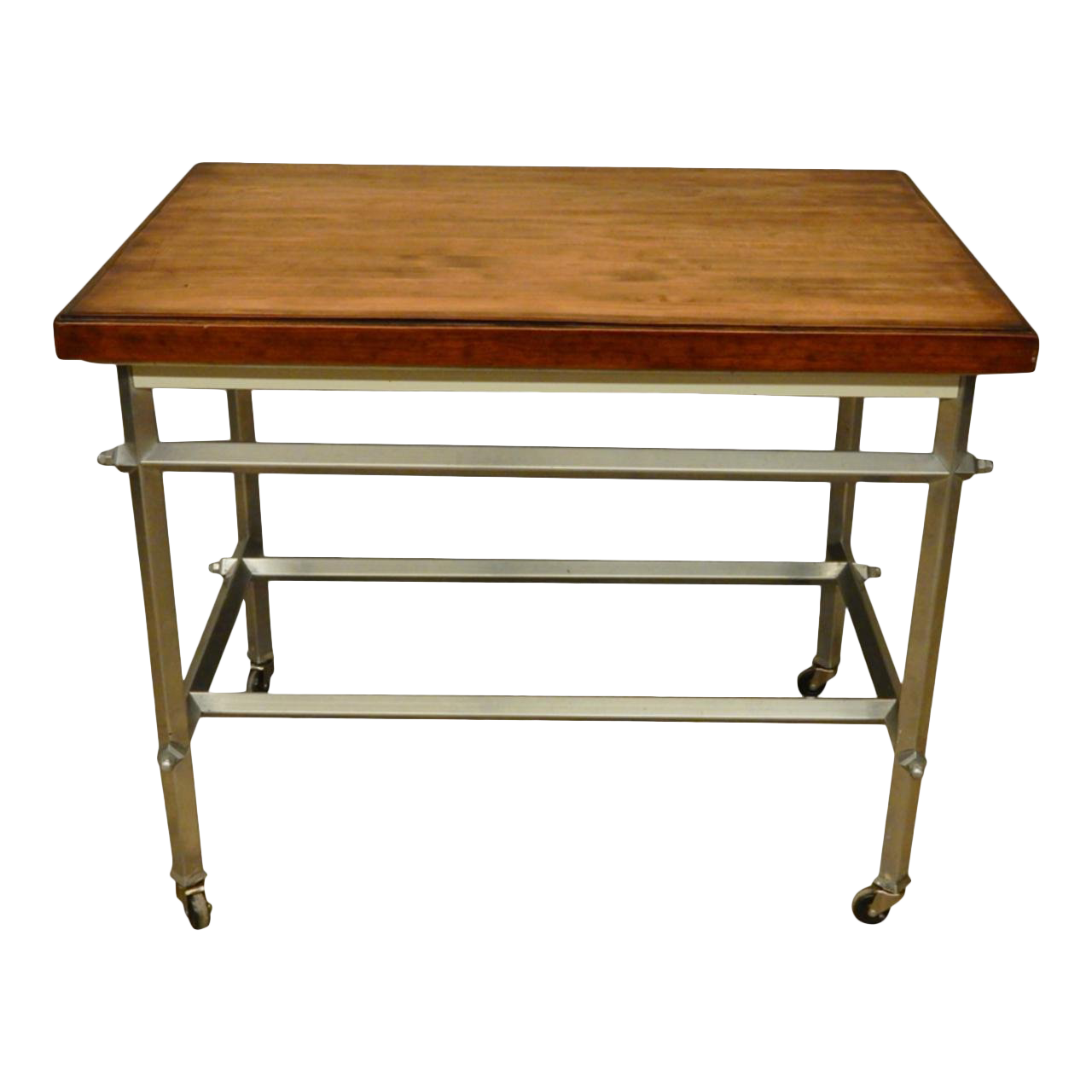 Mid-Century Modern French Commercial Kitchen Work Table