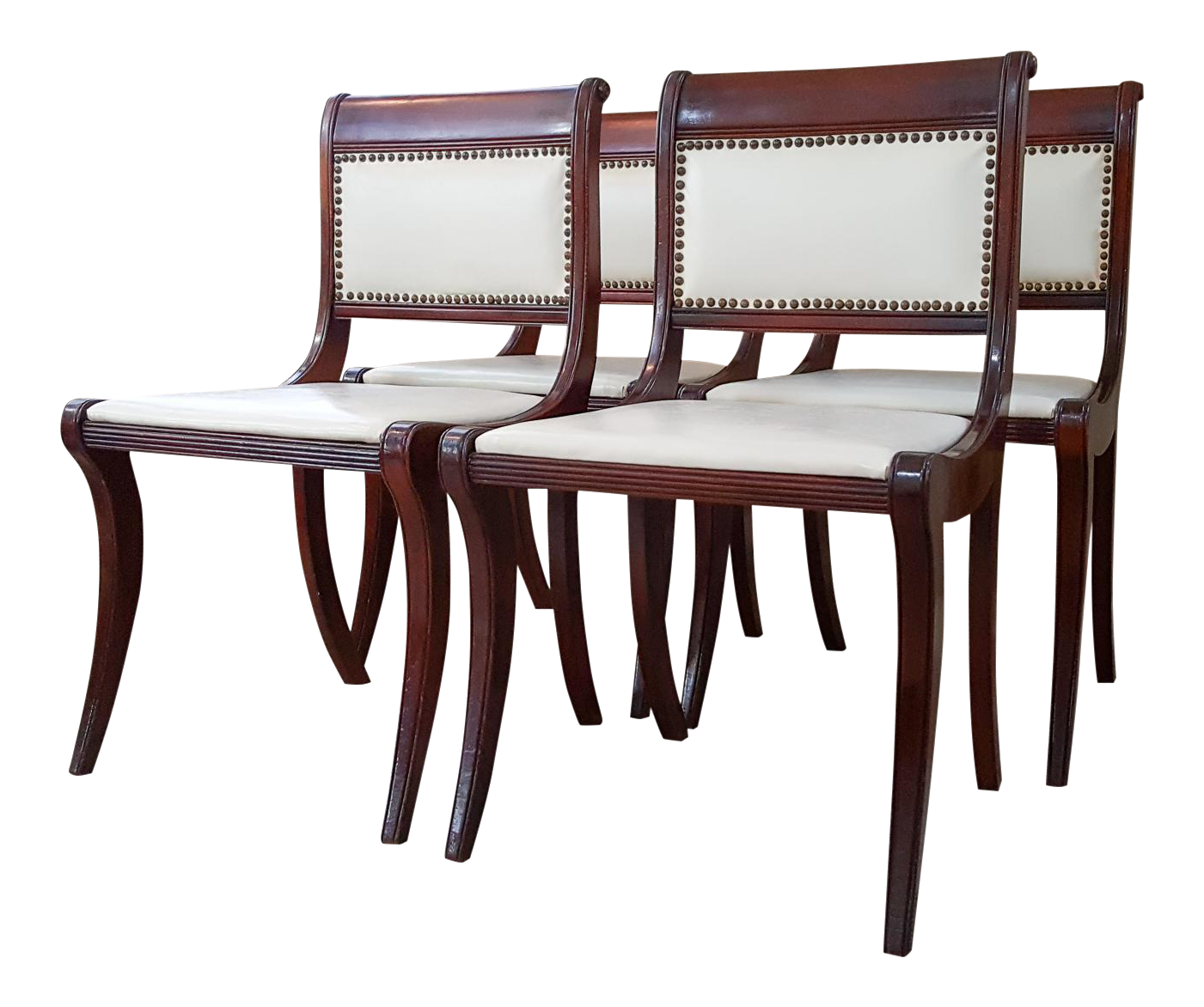 1950s Drexel Mahogany French Empire Style Dining Chairs   Set Of 4