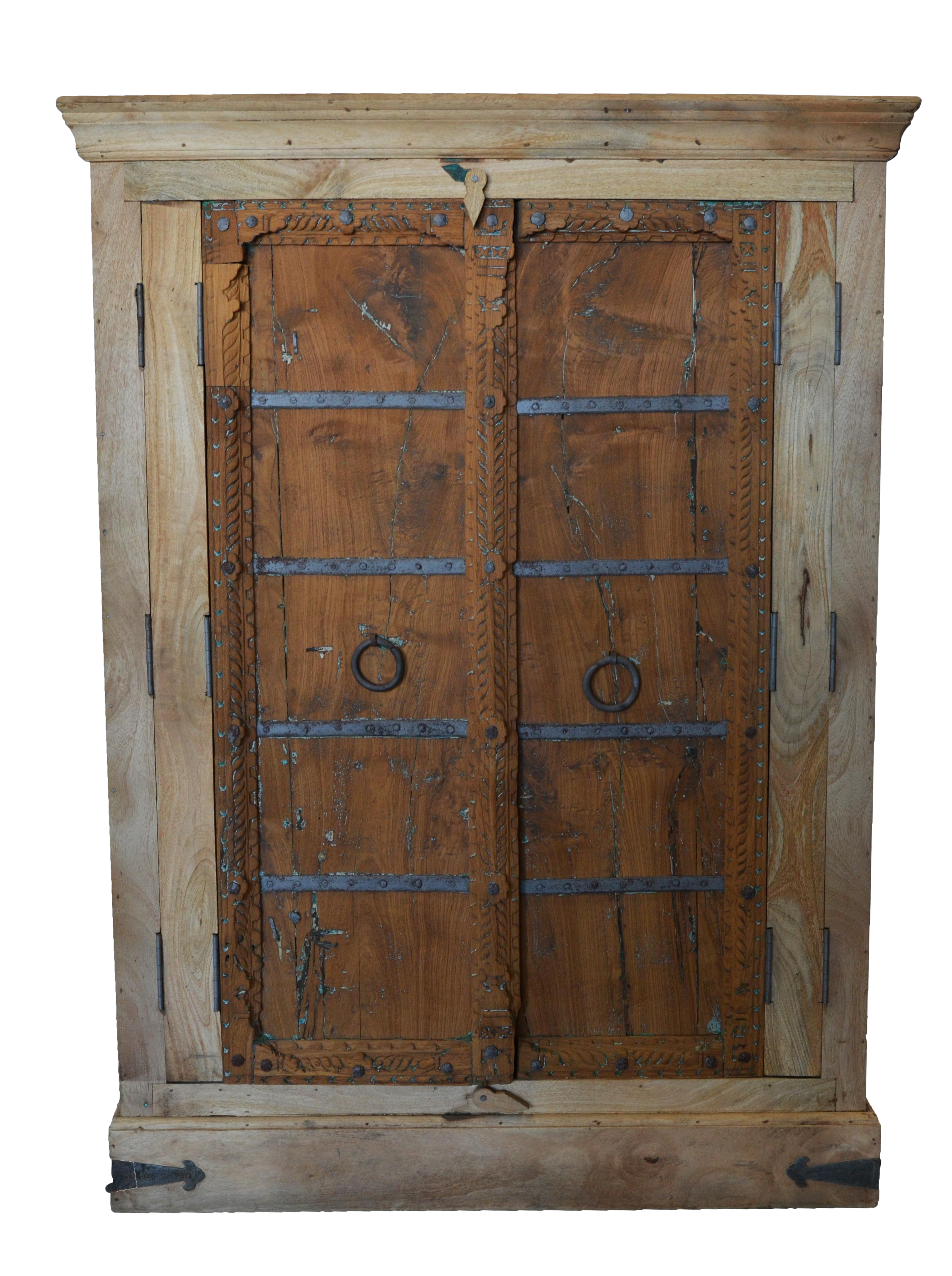 Antique Old Door Indian Cabinet Chairish